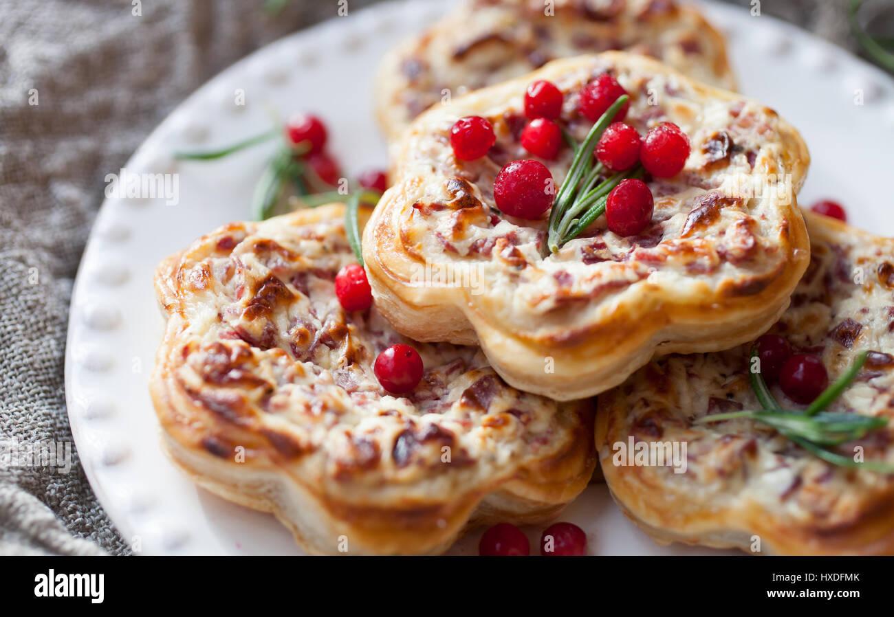 Tarte savoureuse avec la viande de renne Photo Stock