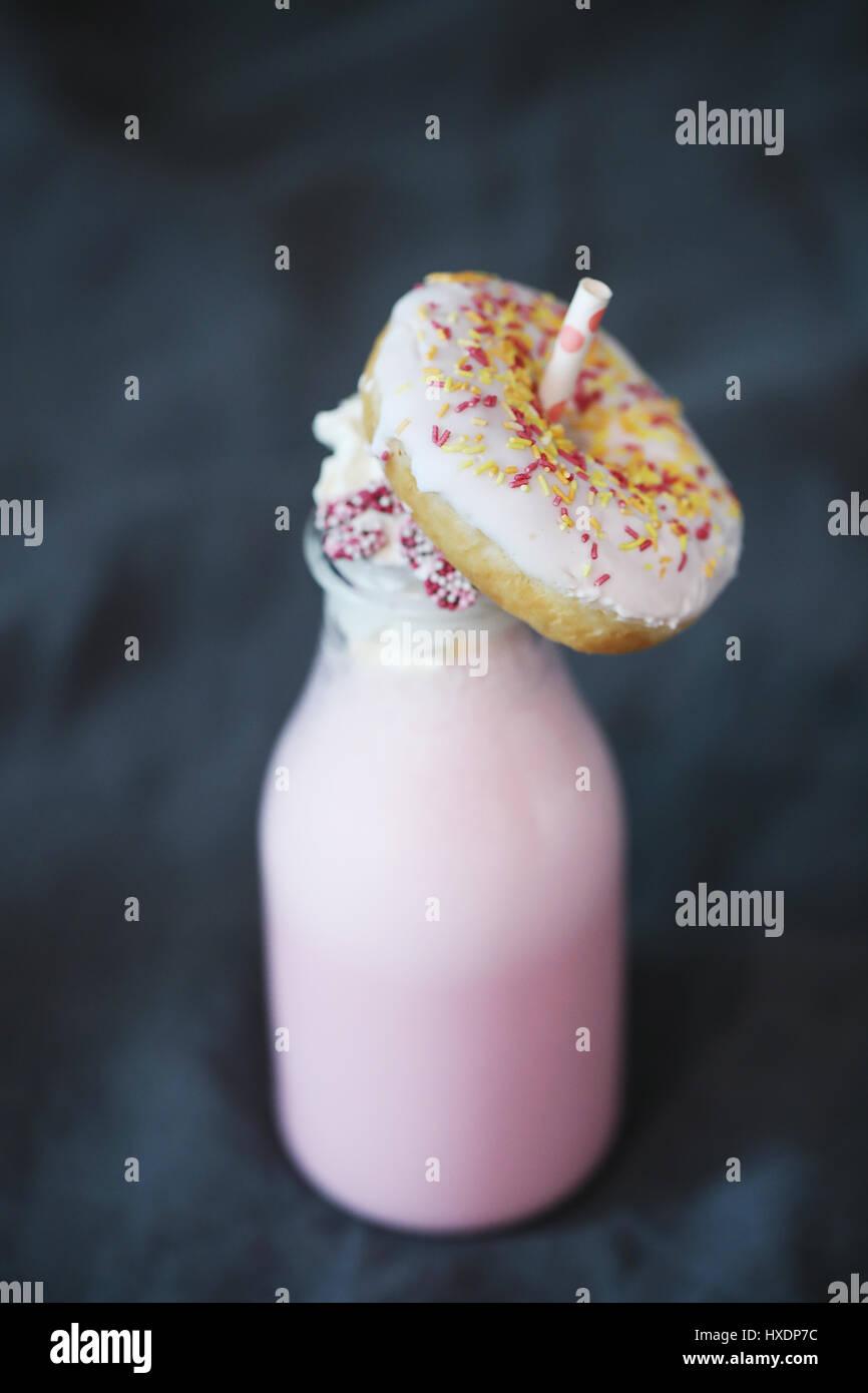 Milkshake Banque D'Images