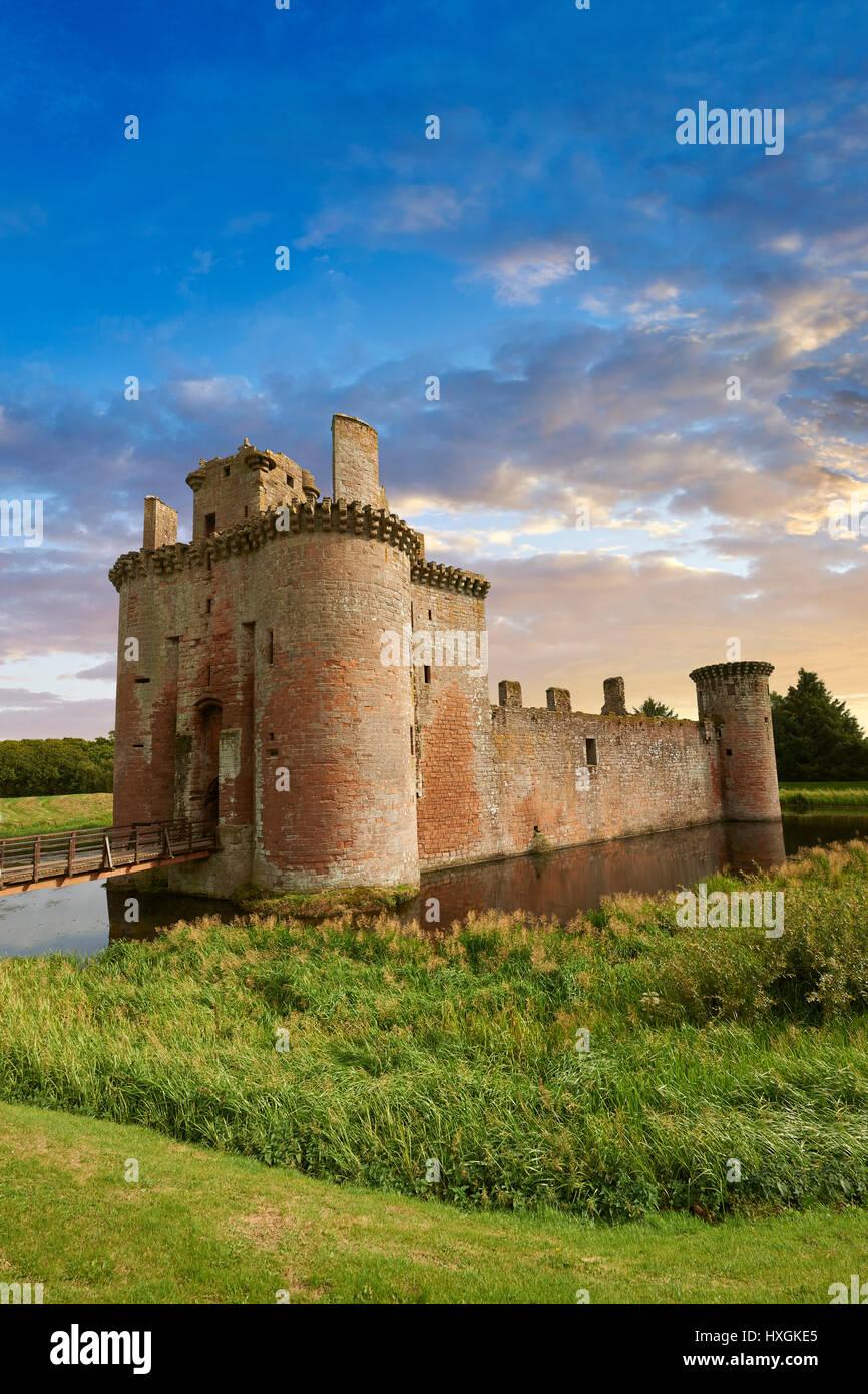 L'extérieur du Château de Caerlaverock, Dumfries Galloway, Ecosse, Photo Stock