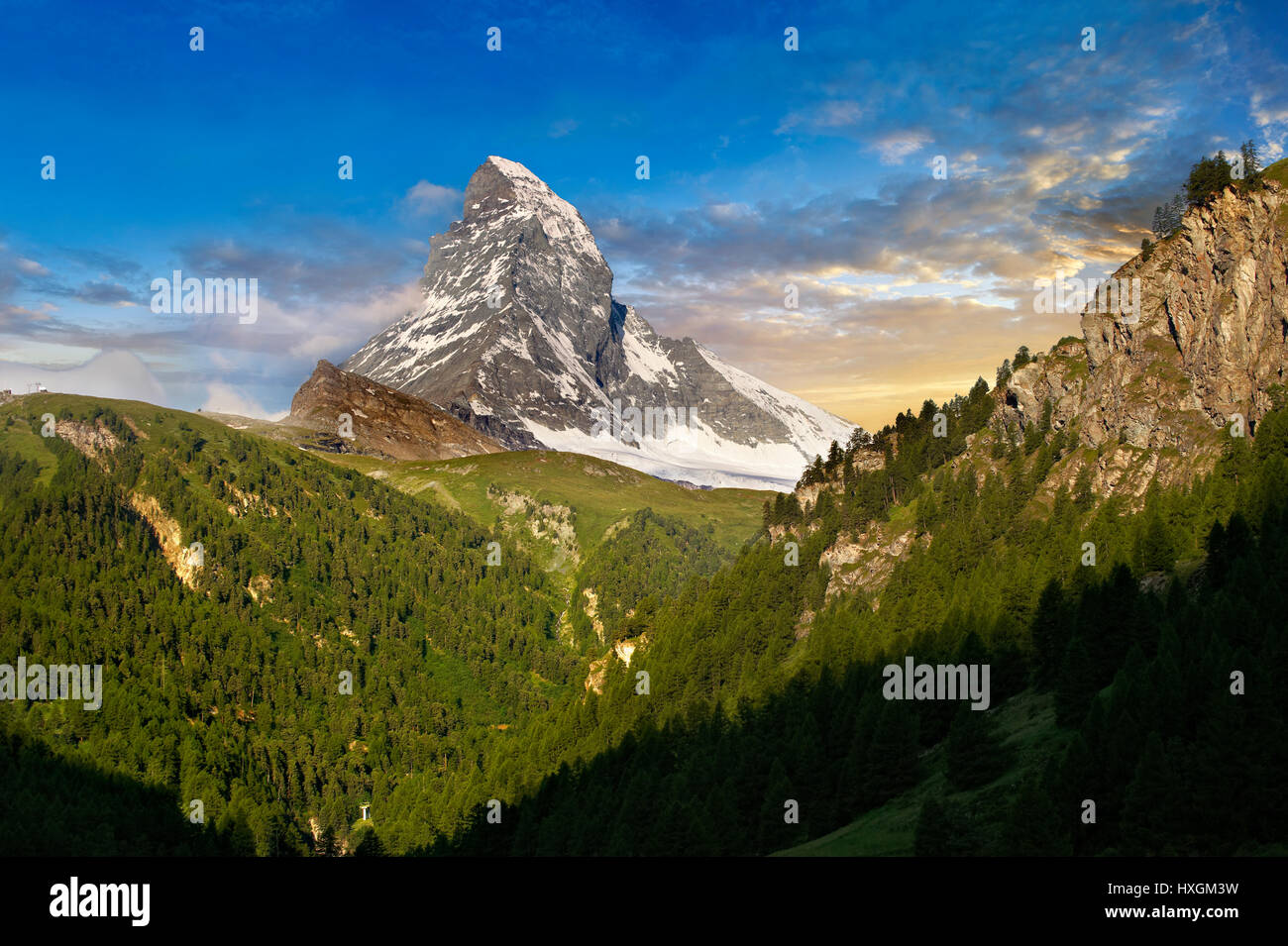 Le Mont Cervin ou Monte Cervino pic de montagne, Zermatt, Suisse Photo Stock