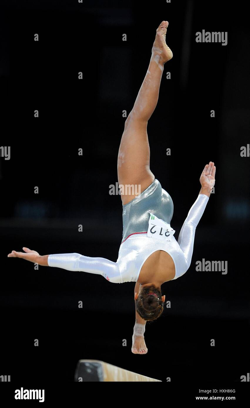 CLAUDIA Gymnastique Gymnastique FRAGAPANE DE L'HYDRO SSE GLASGOW 29 Juillet 2014 Photo Stock