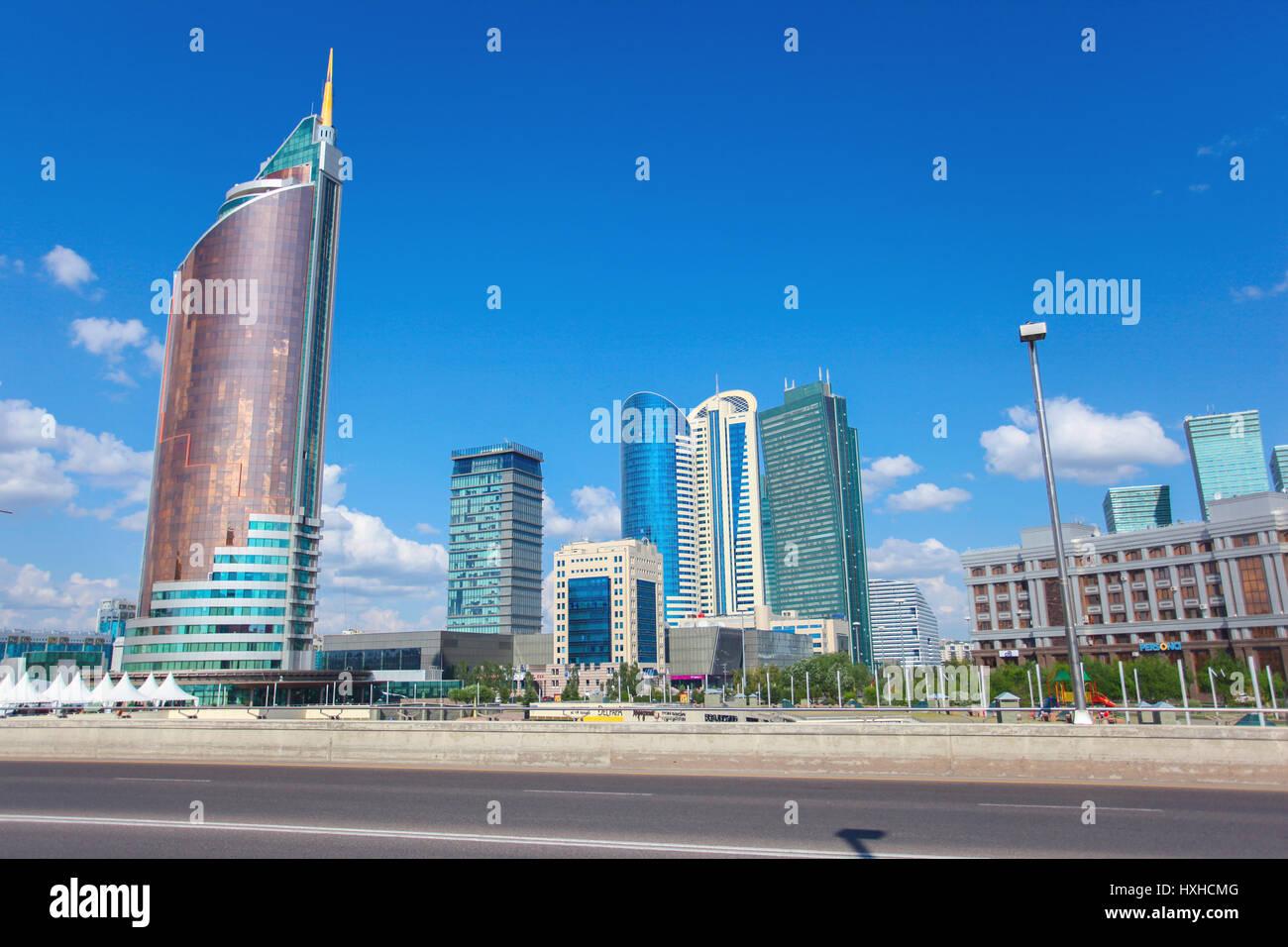 Astana, capitale du Kazakhstan - Banque D'Images