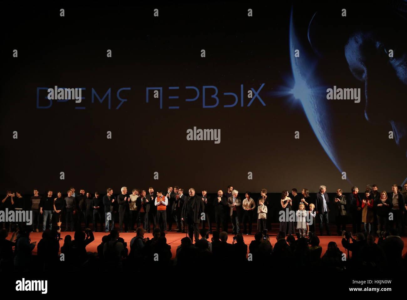 Moscou, Russie. Mar 29, 2017. La première mondiale de Moscou directeur cinématographique russe Dmitriy Photo Stock
