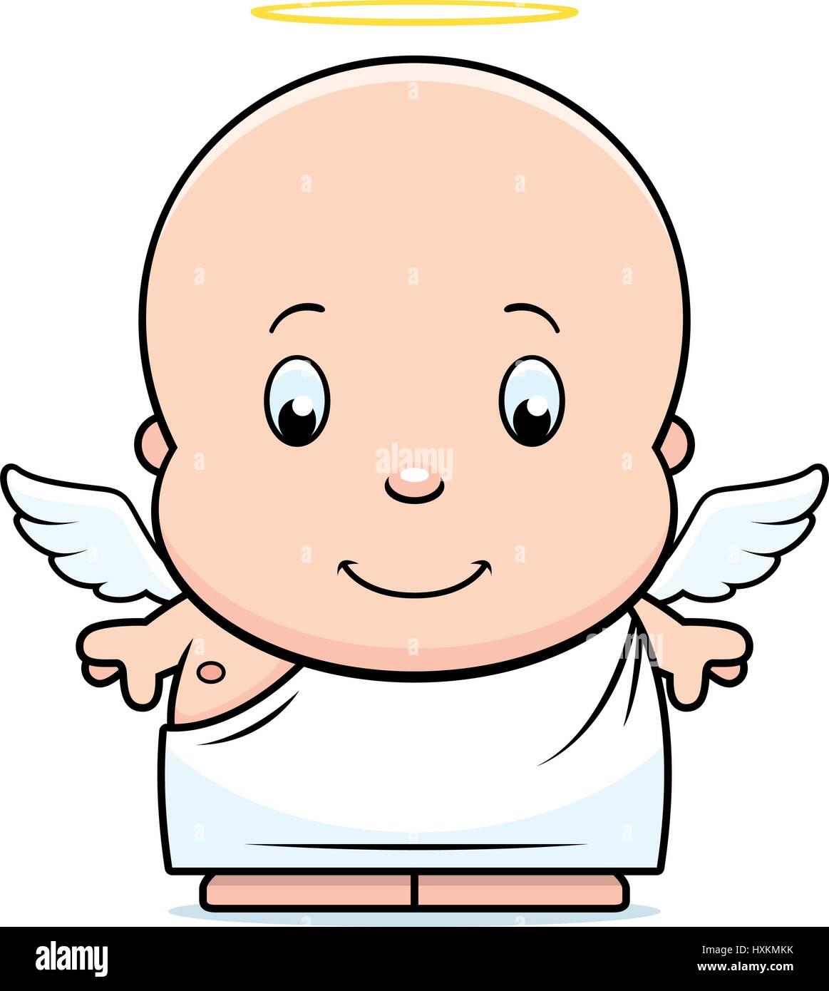 Une Illustration D Un Dessin Animé Bébé Ange Avec Des Ailes