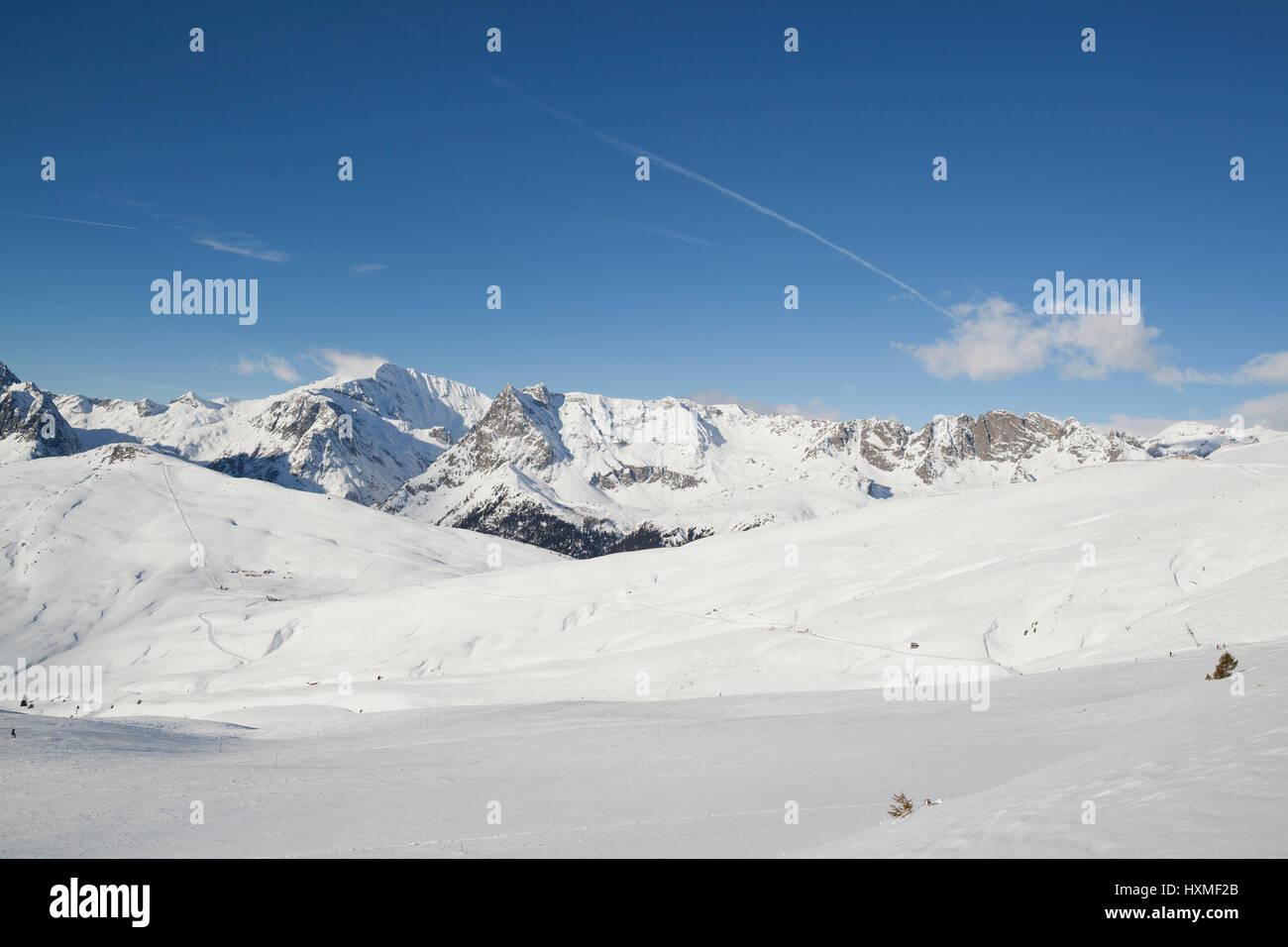 La station de ski du Domaine de Balme dans Le Tour à l'extérieur de Chamonix-Mont-Blanc. Banque D'Images
