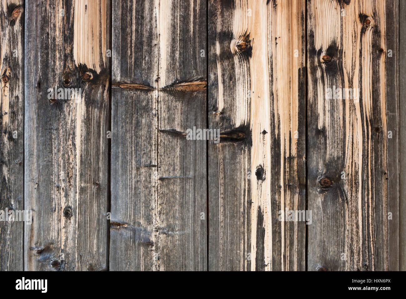 Fond bois. Close-up vieux temps magnifiquement décolorée par les précipitations naturelles et des Photo Stock