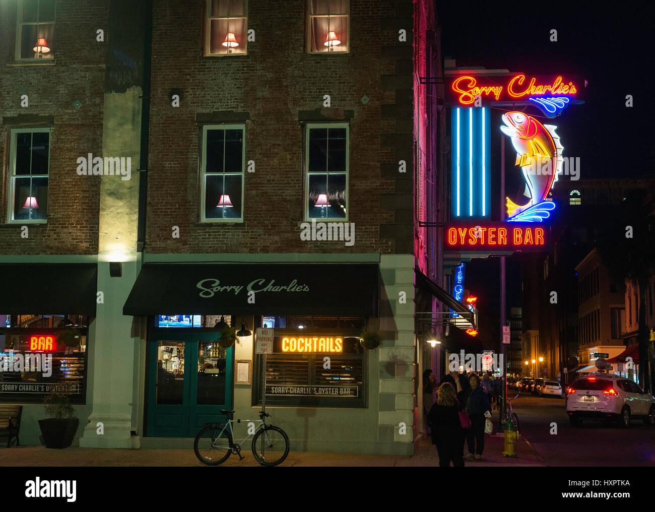 L'extérieur ou Désolé Charlie's à Savannah, GA Photo Stock