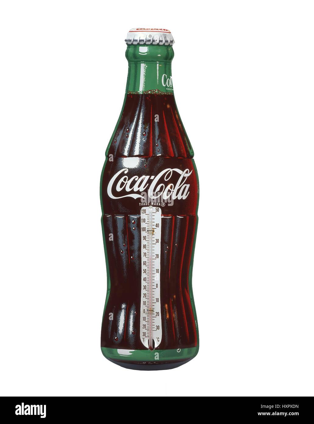 Thermomètre Coca-Cola classique, États-Unis d'Amérique Photo Stock