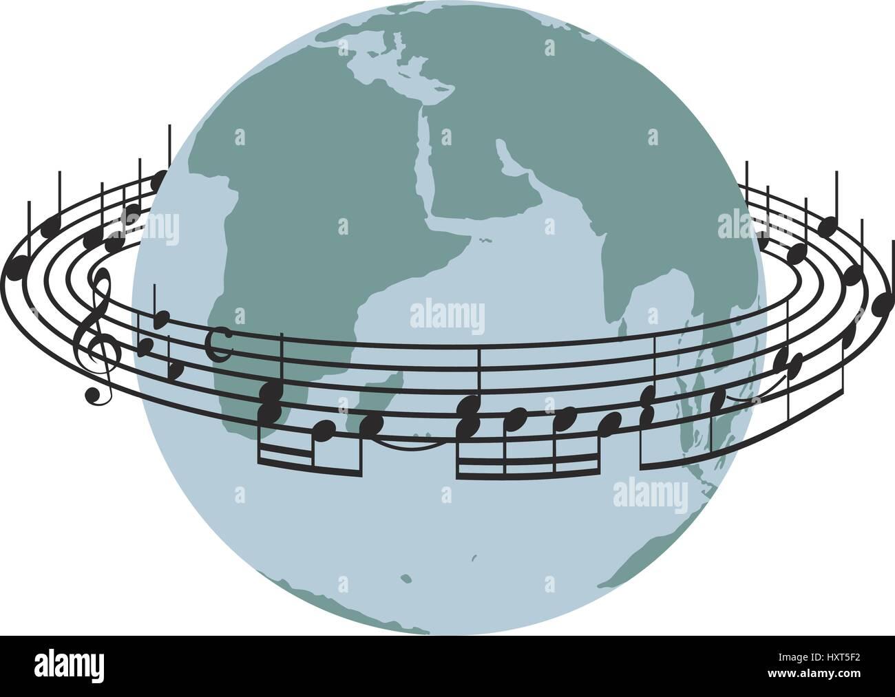 Discontinue autour de la planète terre Photo Stock