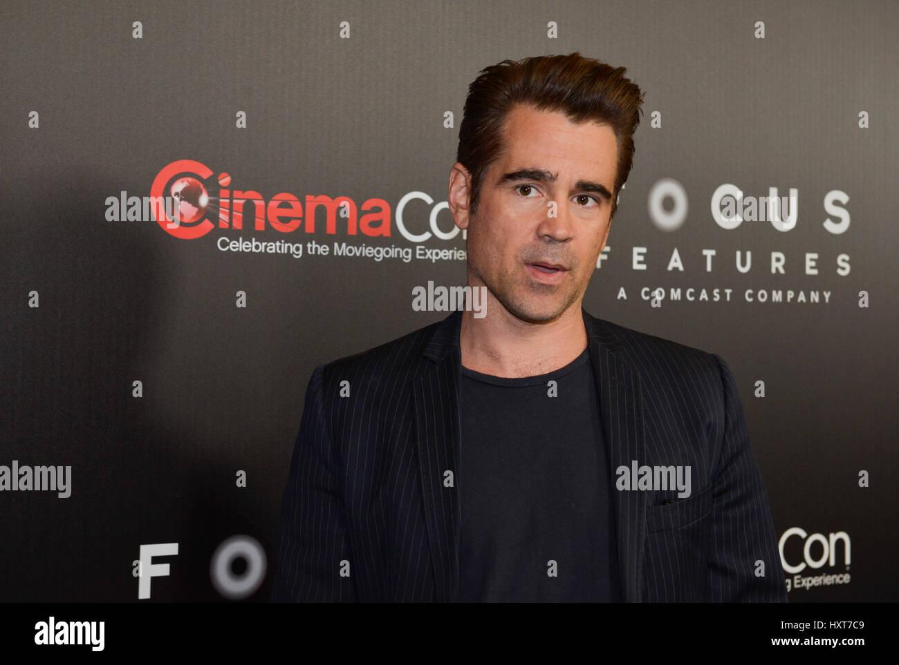 Las Vegas, NV, USA. Mar 29, 2017. Colin Ferrell à Cinema Con 2017 Déjeuner de Focus Features et Studio Photo Stock