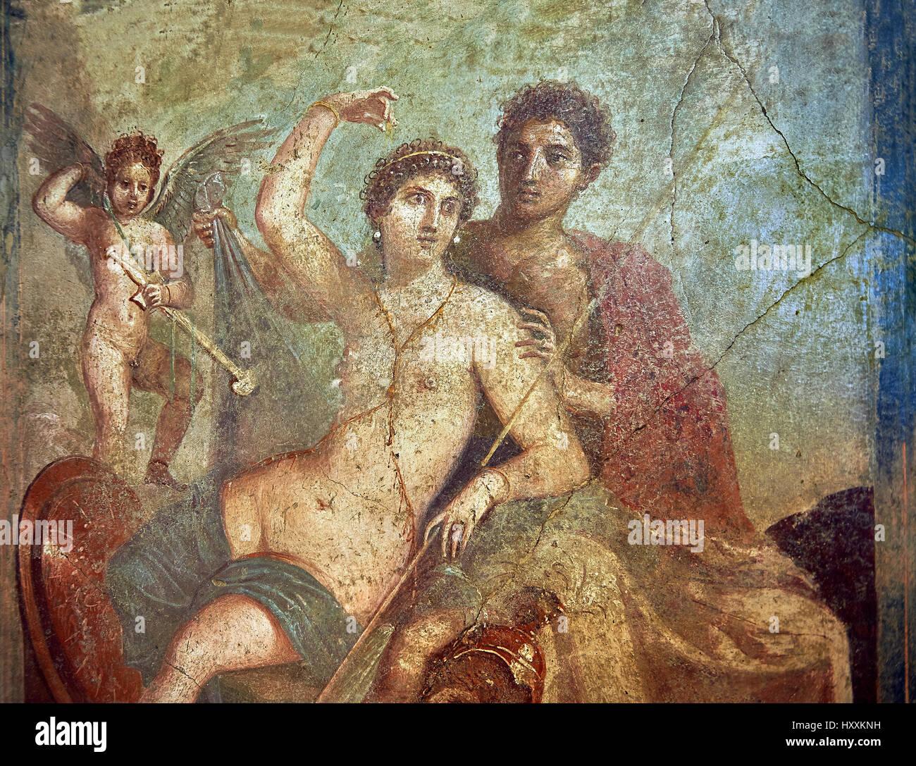 Peinture Murale Fresque Romaine De La Divine Vénus Et Mars