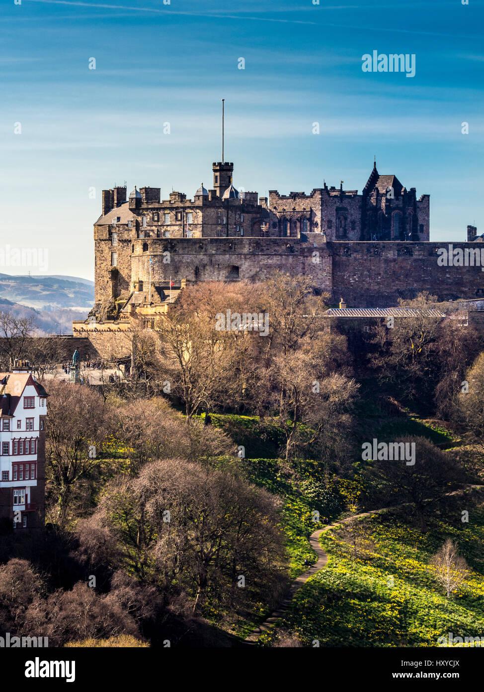Le Château d'Edinburgh, Édimbourg, Écosse, Royaume-Uni. Photo Stock