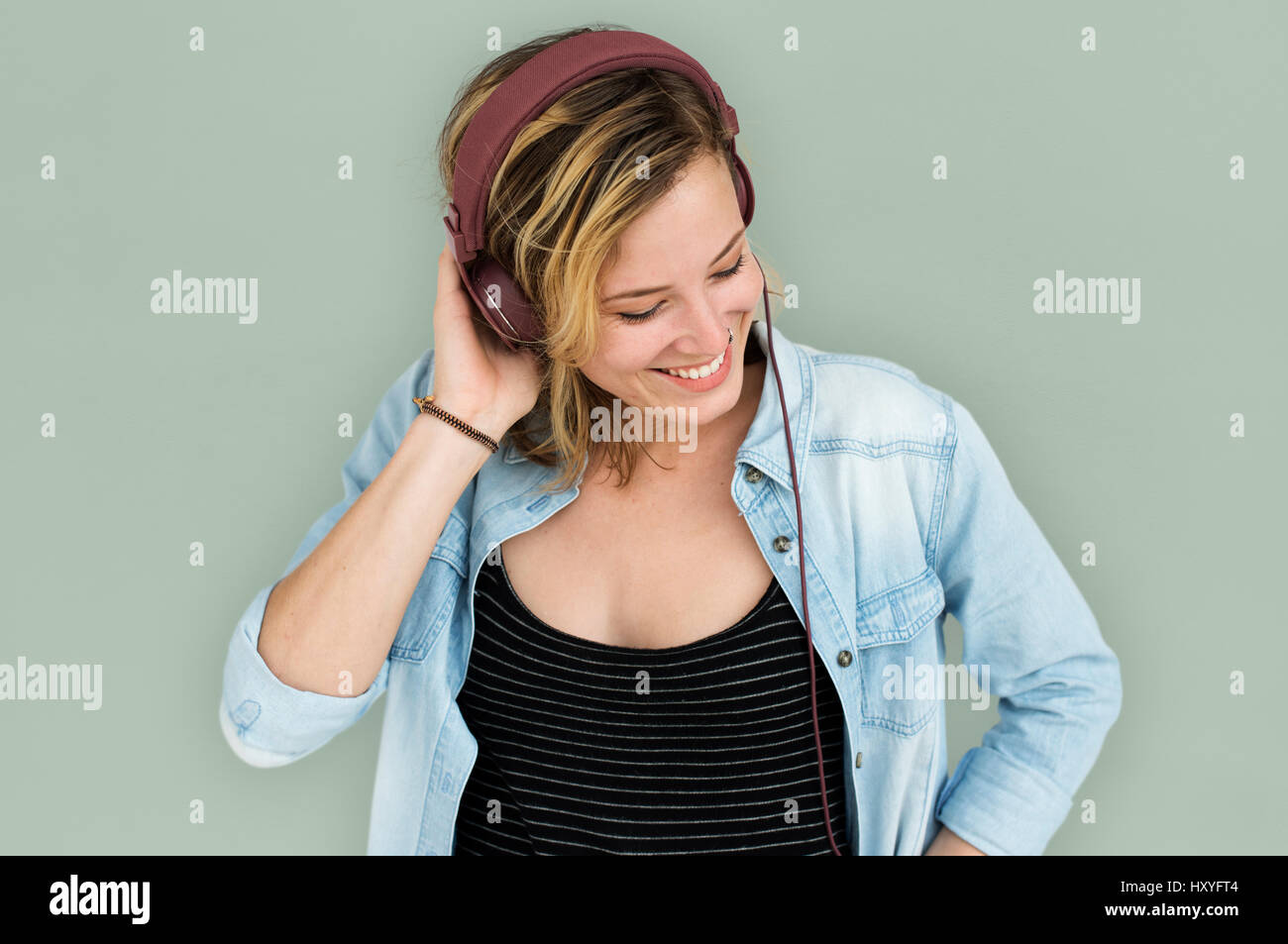 Young Lady Embarassed Concept Studio Photo Stock
