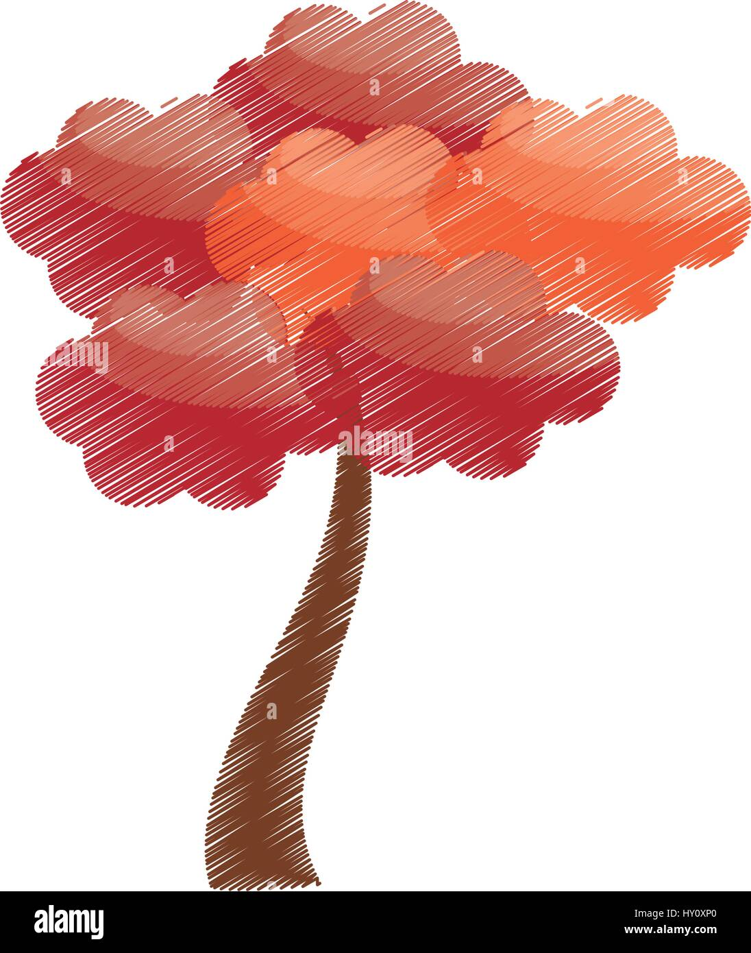 Arbre Sakura Dessin Japon Image Vectorielle Stock Alamy