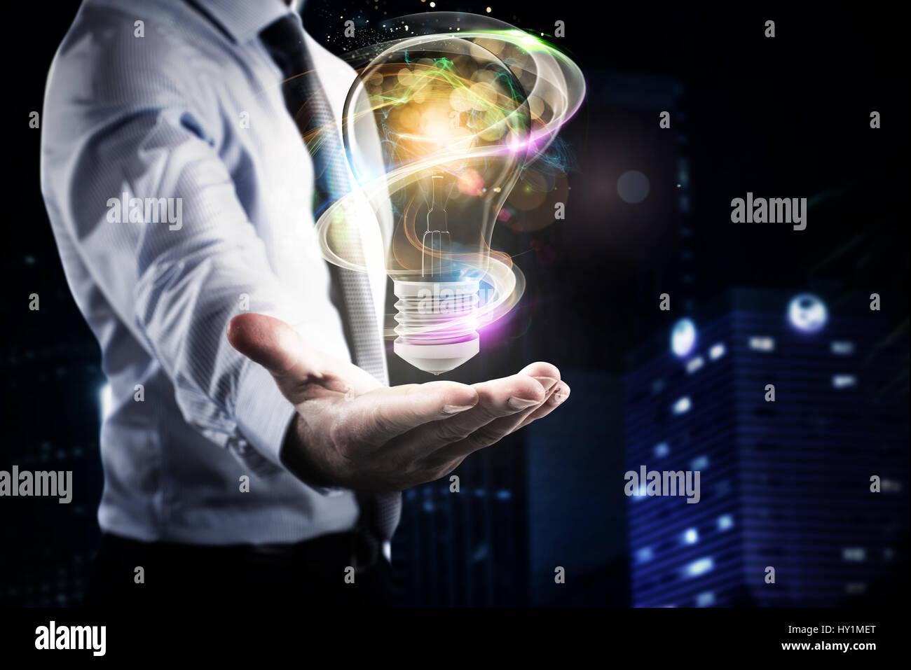 Idée lumineuse d'affaires Banque D'Images