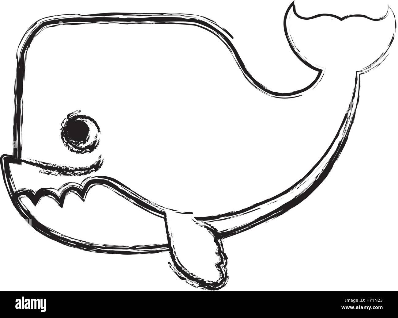 Coloriage Queue De Baleine.Animaux De Dessin Anime Baleine Vecteurs Et Illustration Image