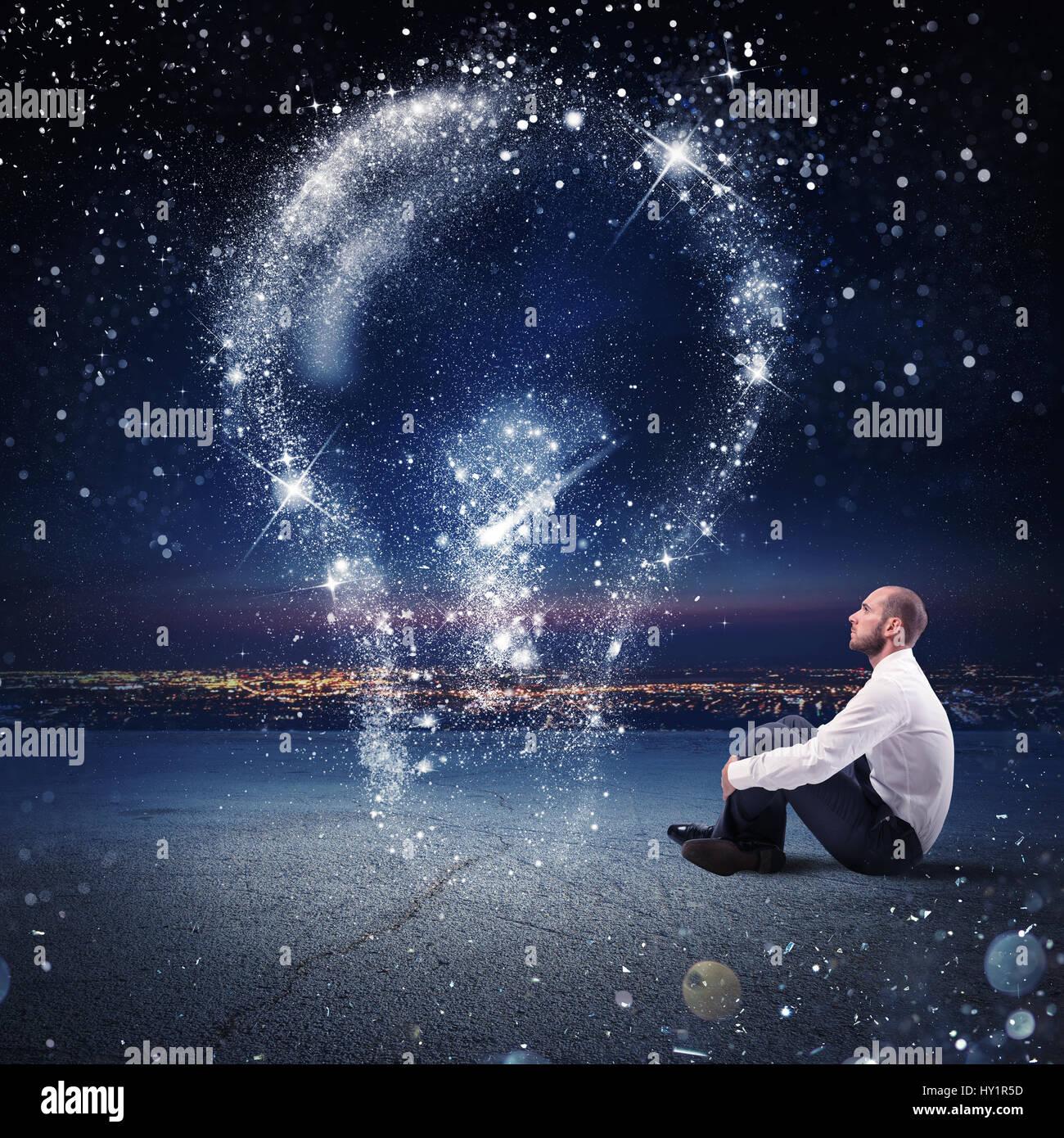 Idée lumineuse comme les étoiles Photo Stock