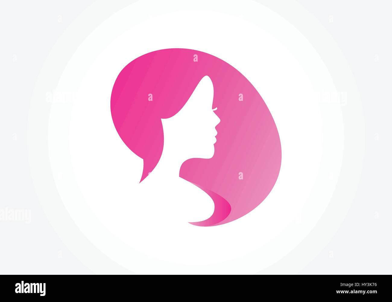Silhouette de femme beauté Photo Stock