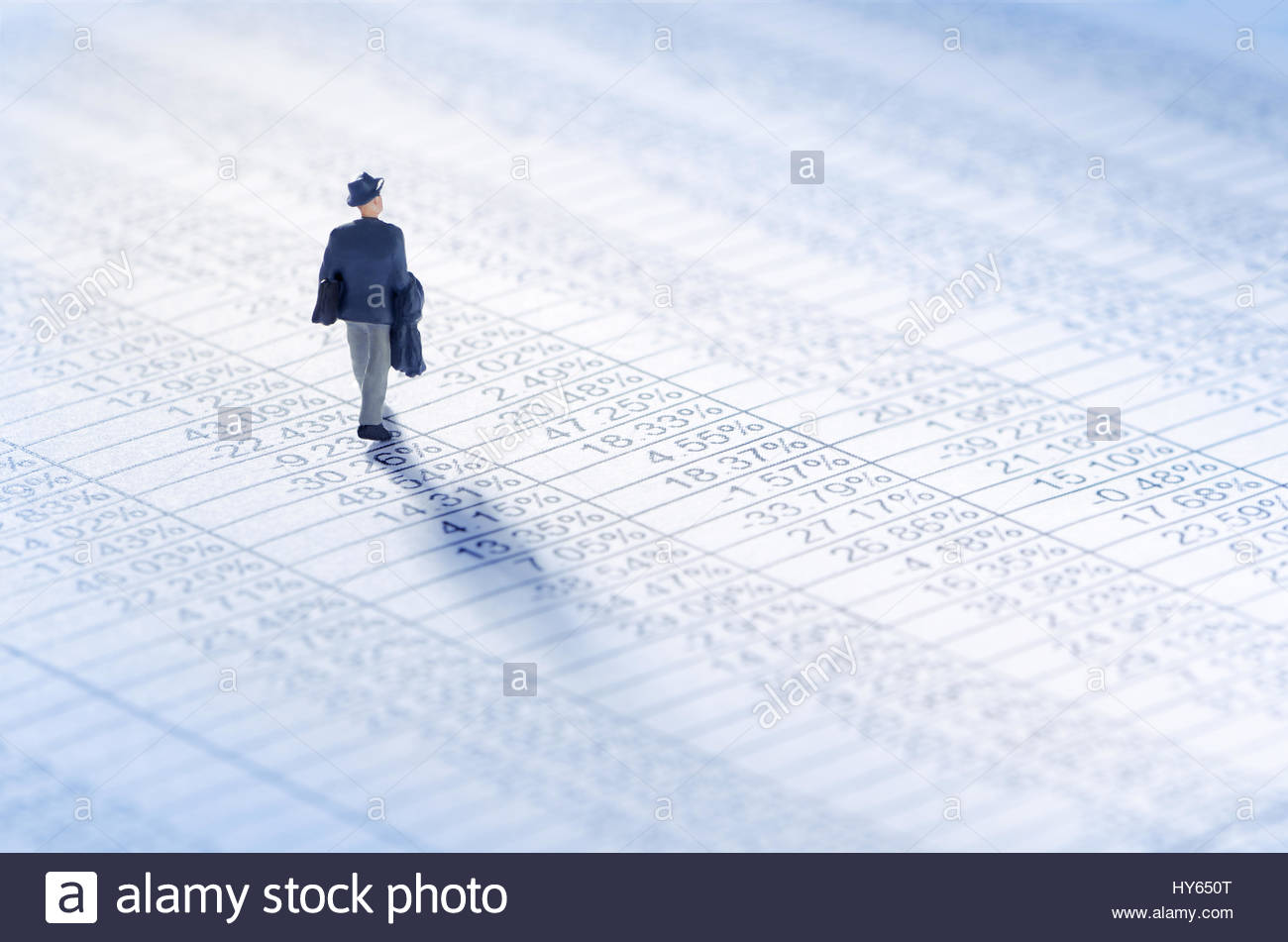 Businessman jouer le marché boursier Photo Stock