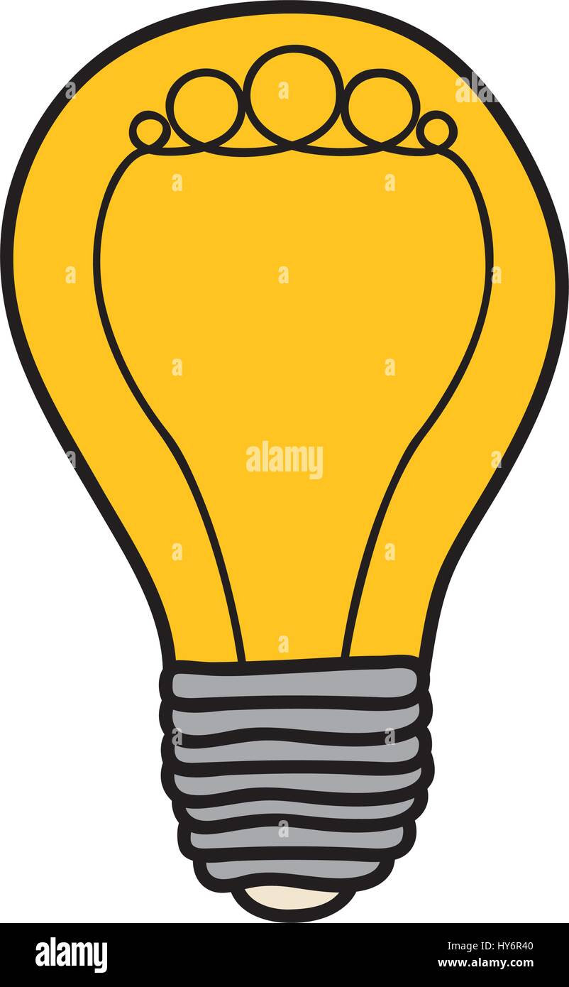 Arrière-plan Couleur de l'ampoule à incandescence avec cercles formés par Photo Stock
