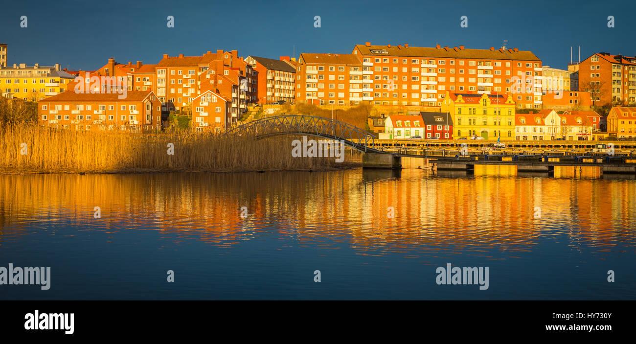 Les bâtiments urbains dans Karlskona, Suède ..... Karlskrona est une localité et le siège du comté de Blekinge, Municipalité de Karlskrona, Suède. Banque D'Images