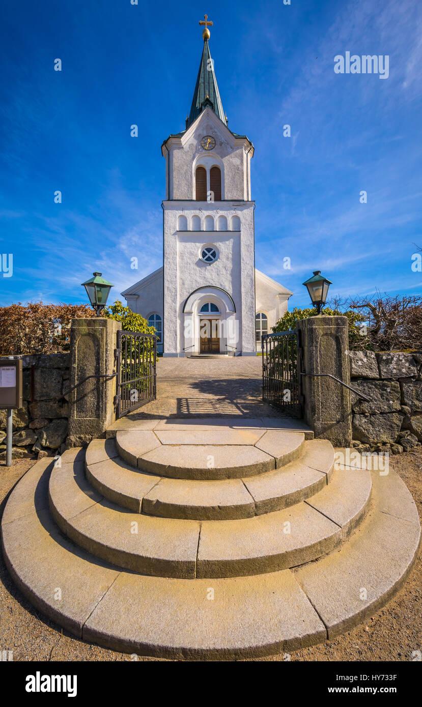 Église Kyrkhult est le principal lieu de culte pour la congrégation Kyrkhult et est situé dans le Photo Stock