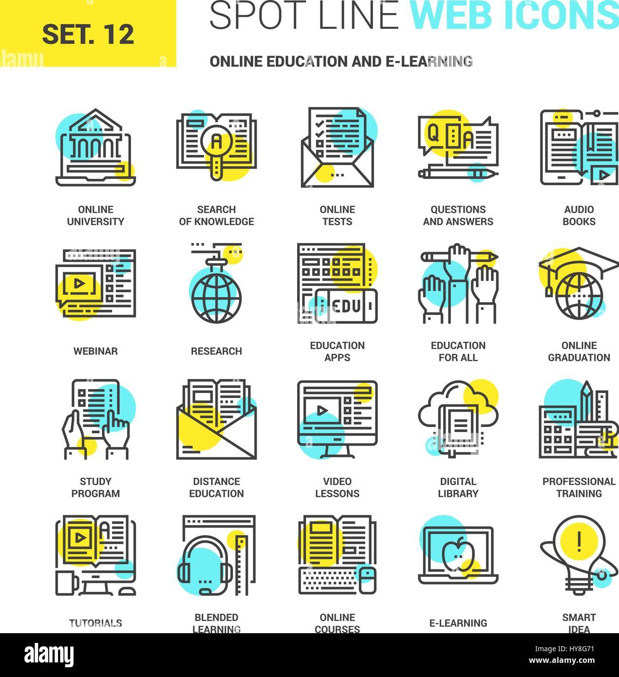 L'éducation en ligne et E-learning Photo Stock