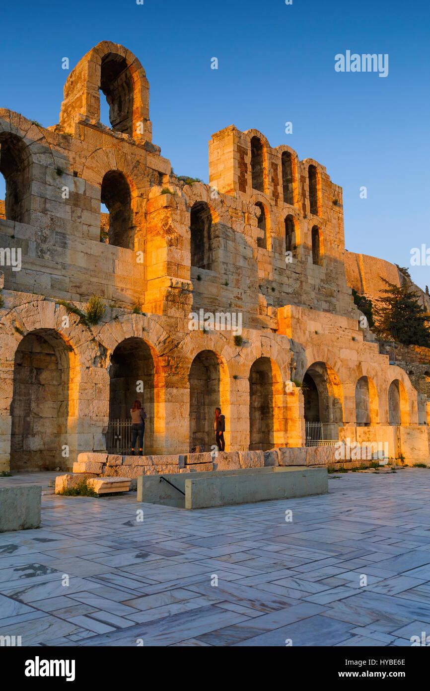 Demeure d'Odeon dans la vieille ville d'Athènes, Grèce. Photo Stock