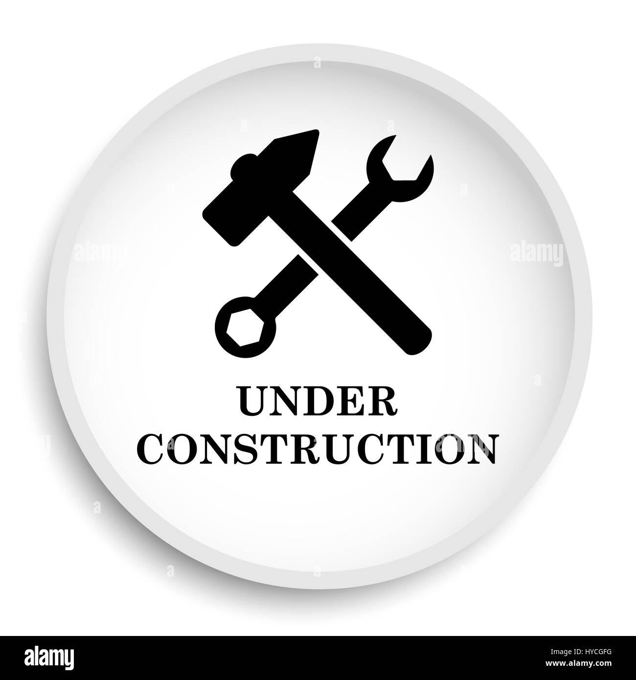 En Construction L Icone Site Web En Construction Bouton Sur Fond