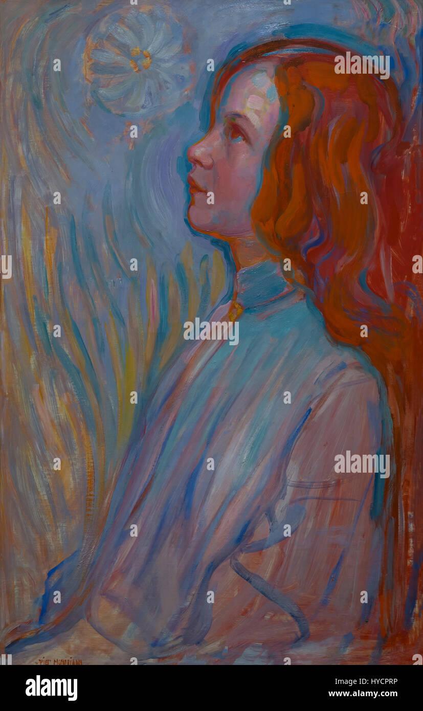 La dévotion, par Piet Mondriaan, 1908, Gemeentemuseum, La Haye, Pays-Bas, Europe Banque D'Images