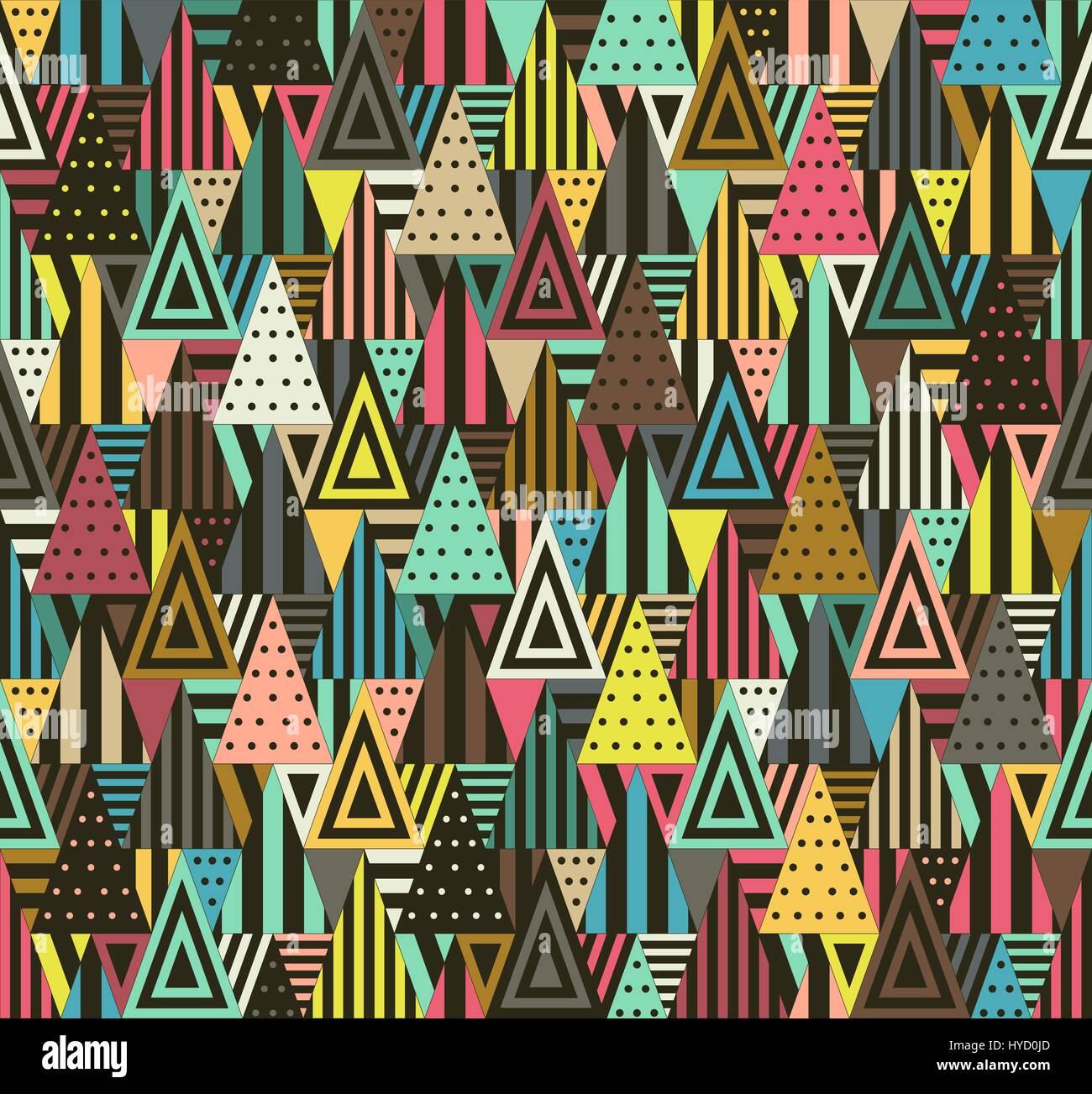 Motif géométrique de triangles Photo Stock