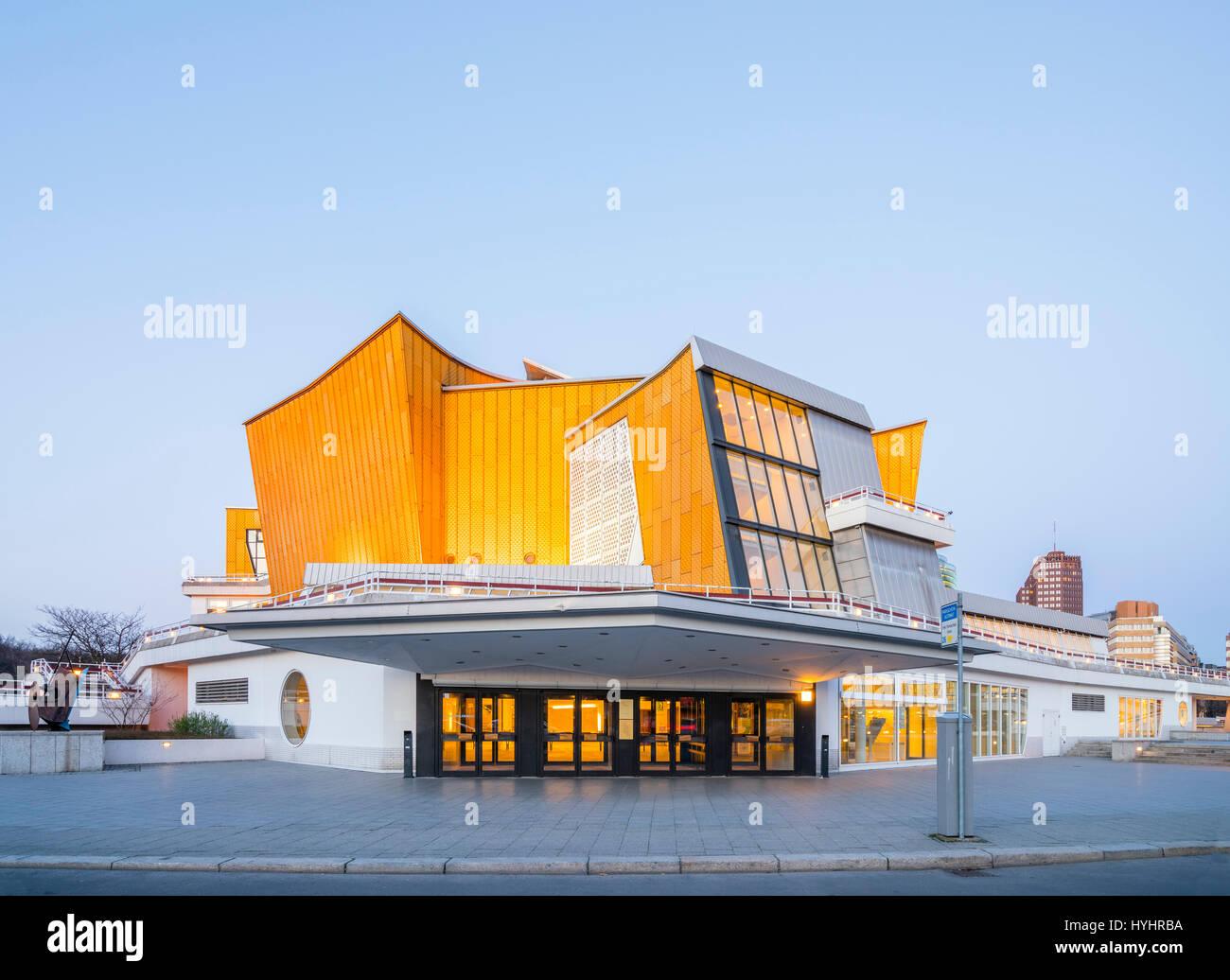 Vue De Nuit Salles De Concert Philharmonie De Berlin Accueil D