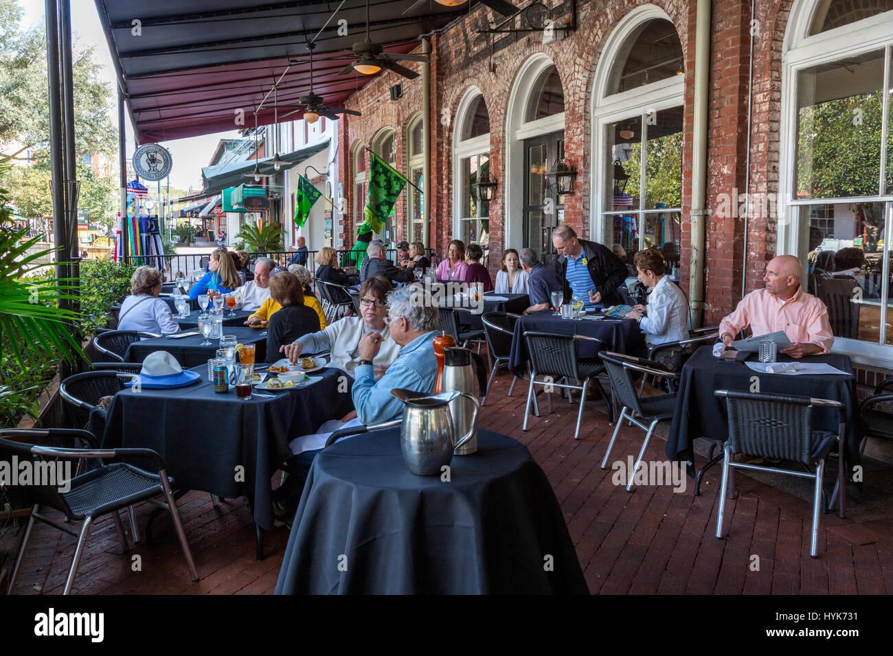 Savannah, Géorgie. Belford's restaurant Savannah, marché de la ville. Photo Stock
