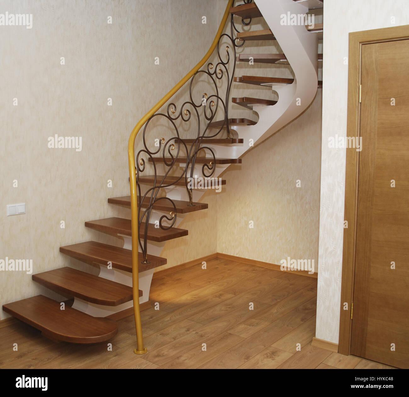 Escalier Dans La Maison chaîne métallique beige - un design pour la construction de