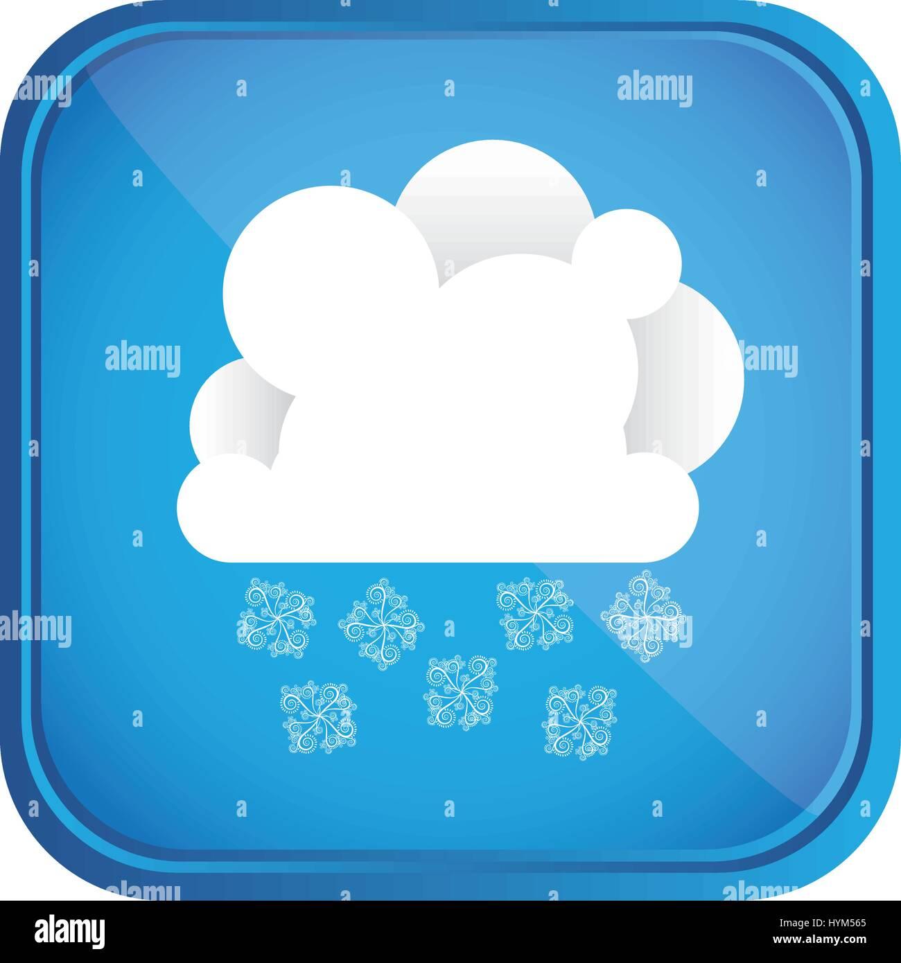 Météo d'hiver jour l'icône bouton Illustration de Vecteur
