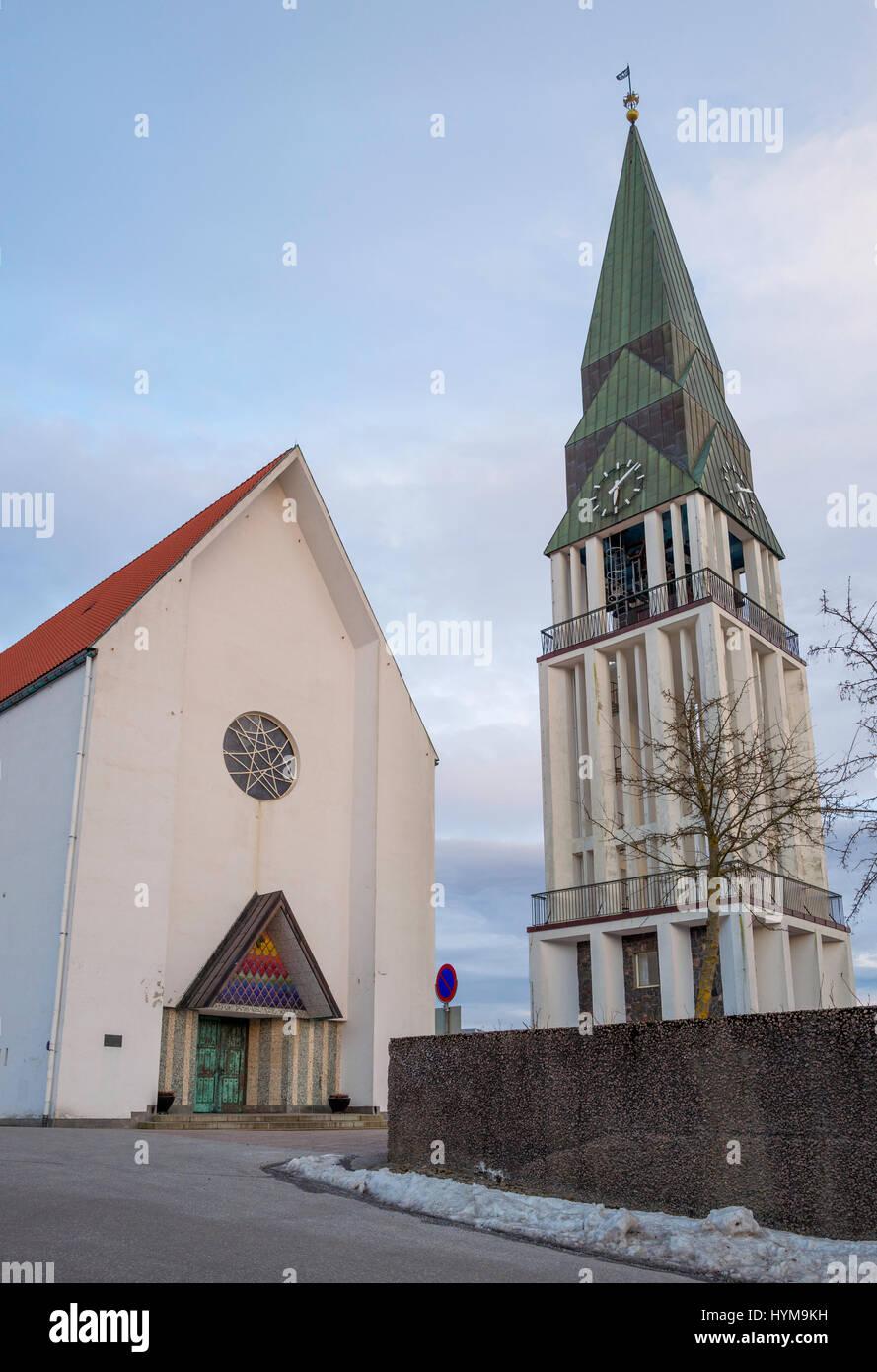 Molde Molde (cathédrale domkirke) est la cathédrale du diocèse de Møre de l'Eglise de Norvège. Photo Stock
