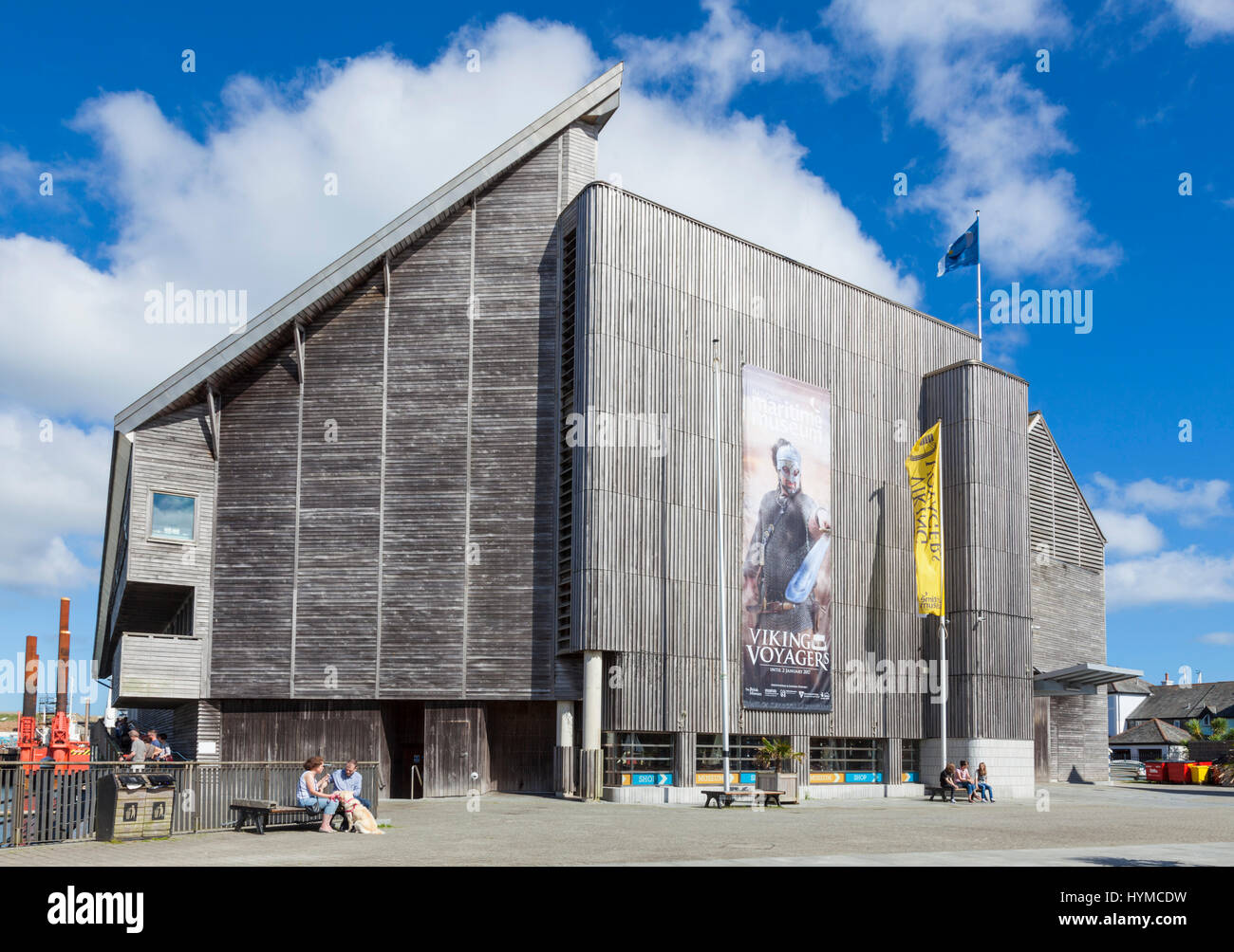 Falmouth, Cornwall, le National Maritime Museum Cornwall, Cornwall Falmouth, découverte Quay west country angleterre Photo Stock