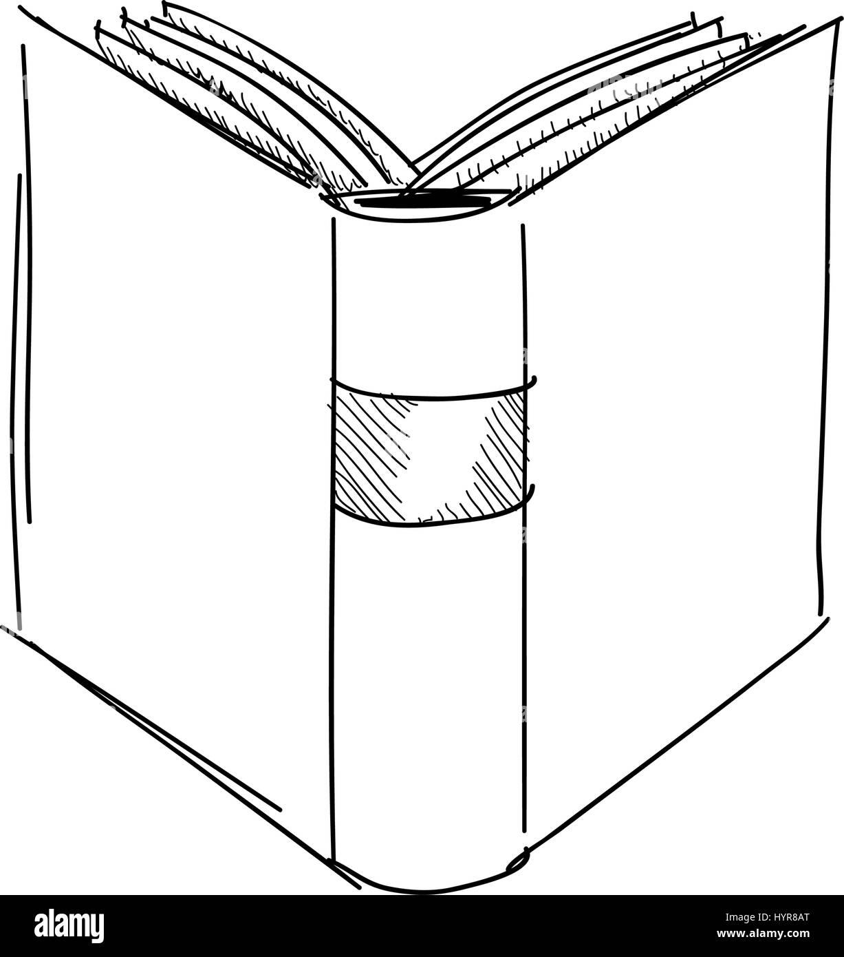 Dessin Vectoriel Dessin A La Main Livre Ancien Illustration