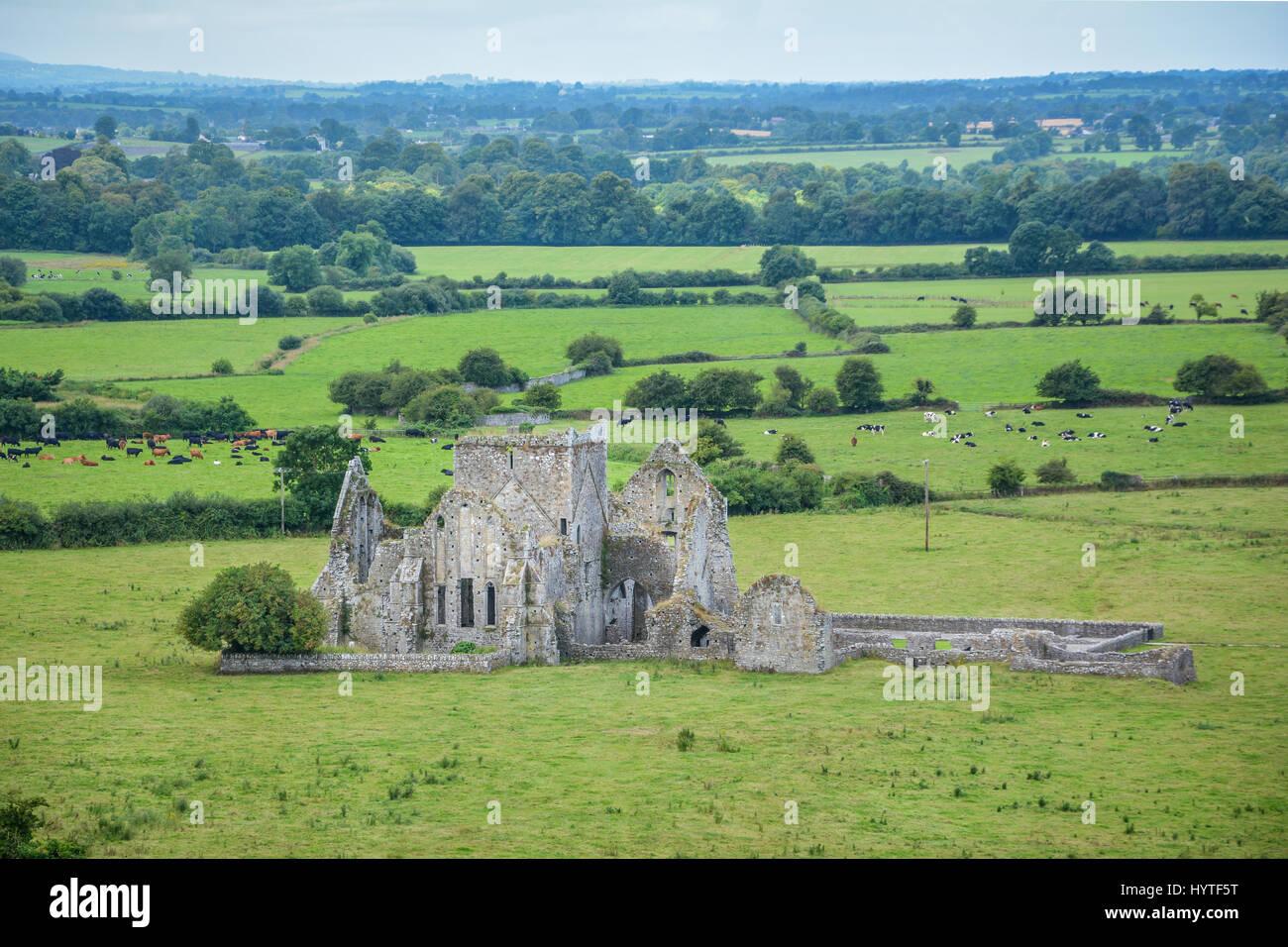 Hore Abbey, monastère cistercienne et près du rocher de Cashel, comté de Tipperary, Irlande Photo Stock
