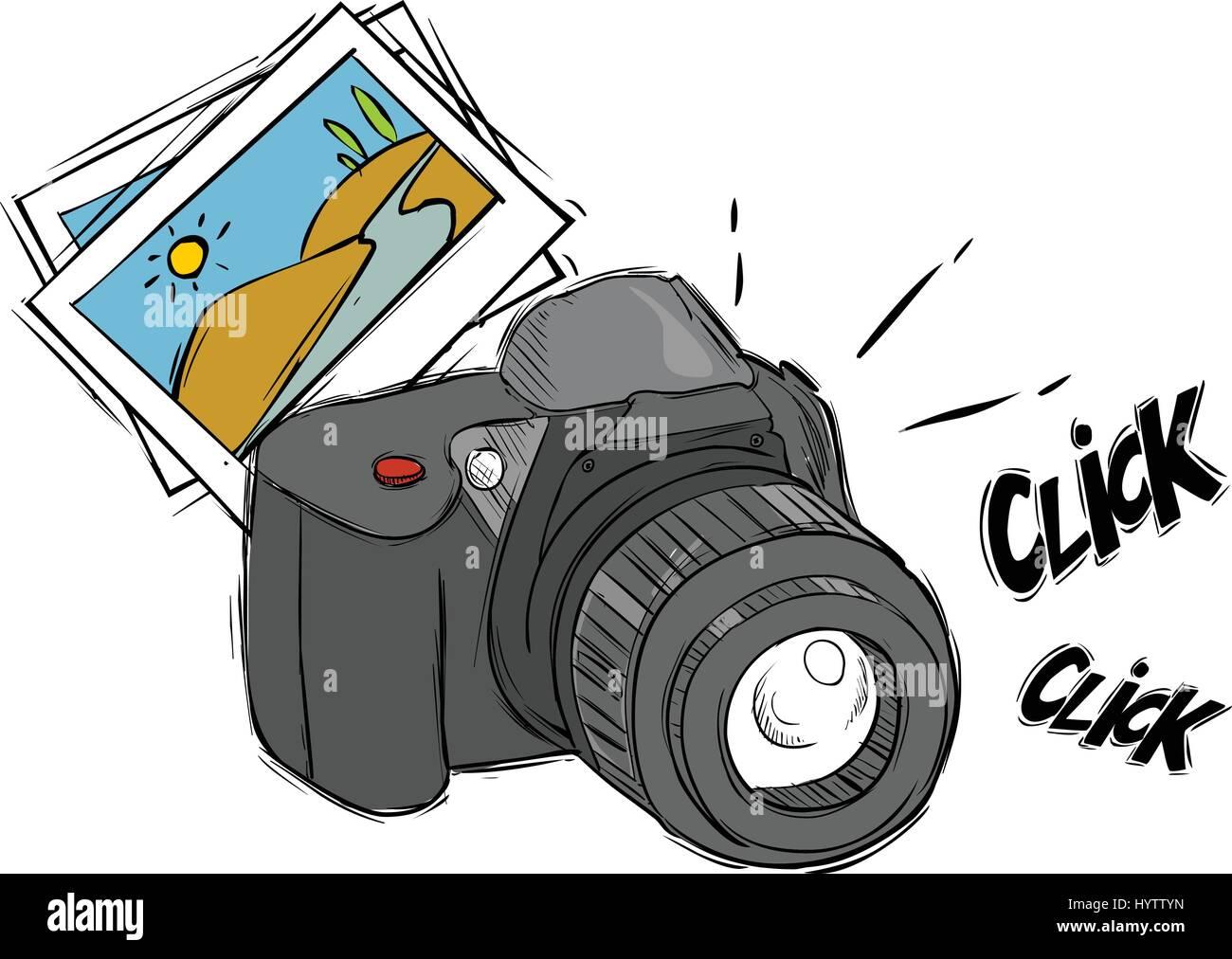Dessin Appareil Photo vector illustration d'un appareil photo de dessin animé vecteurs et