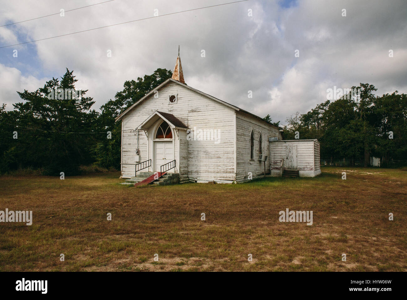 Église décrépit au Texas, USA Photo Stock