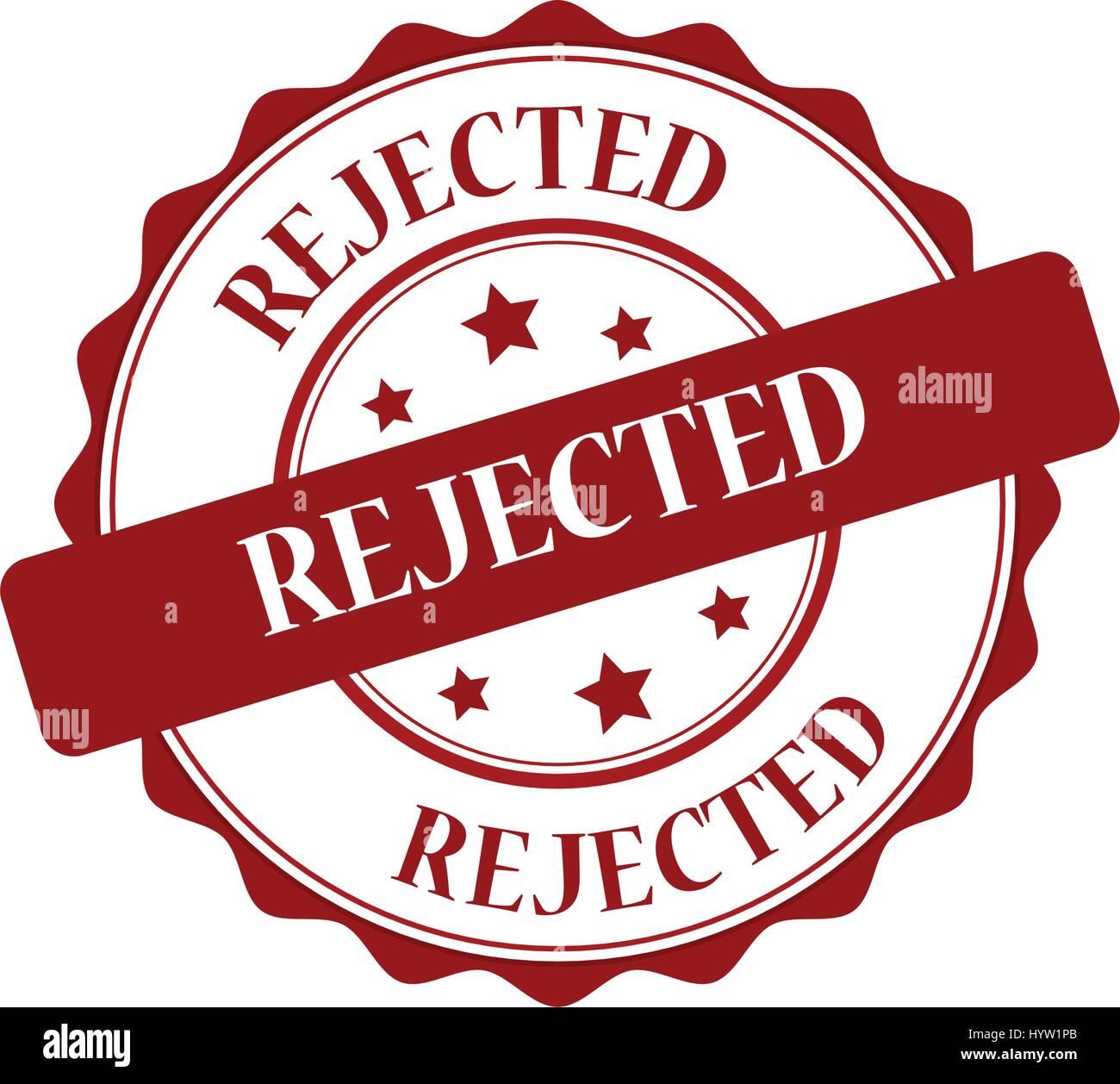 Illustration timbre rouge rejeté Photo Stock