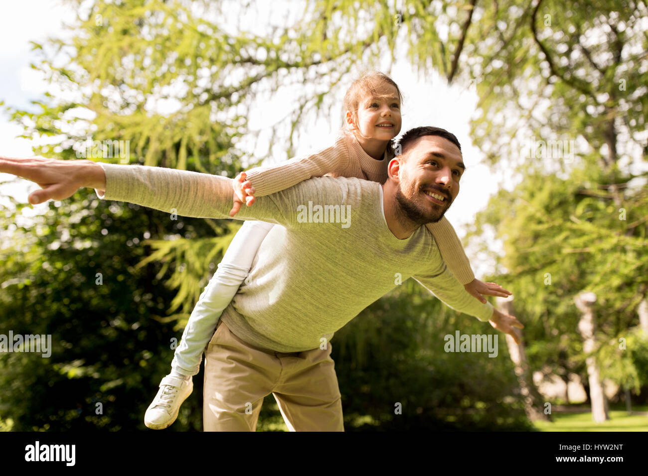 Happy Family in summer park Photo Stock