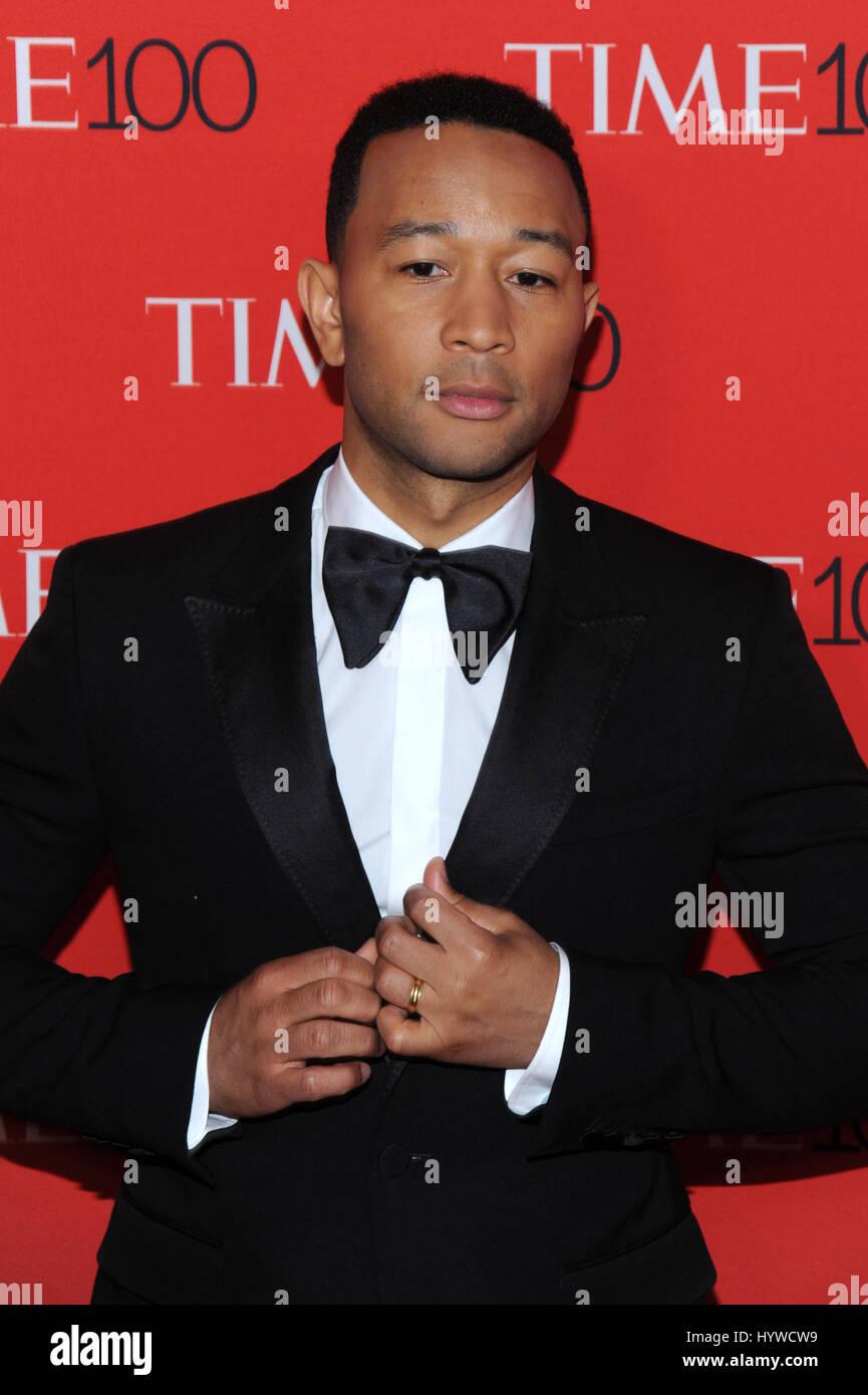 New York, NY, USA. Apr 25, 2017. John Legend au temps 2017 Gala célébrant les 100 100 personnes les plus Photo Stock