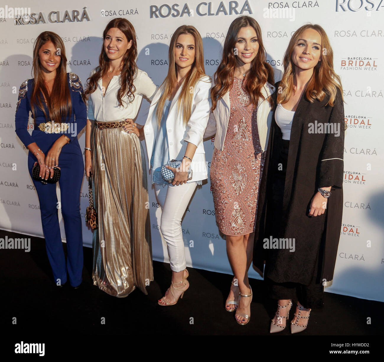 Antonella Roccuzzo, Nuria Cunillera, Elena Galera, Melissa Jimenez et  Romarey Ventura dans le 5ab4c3cee19