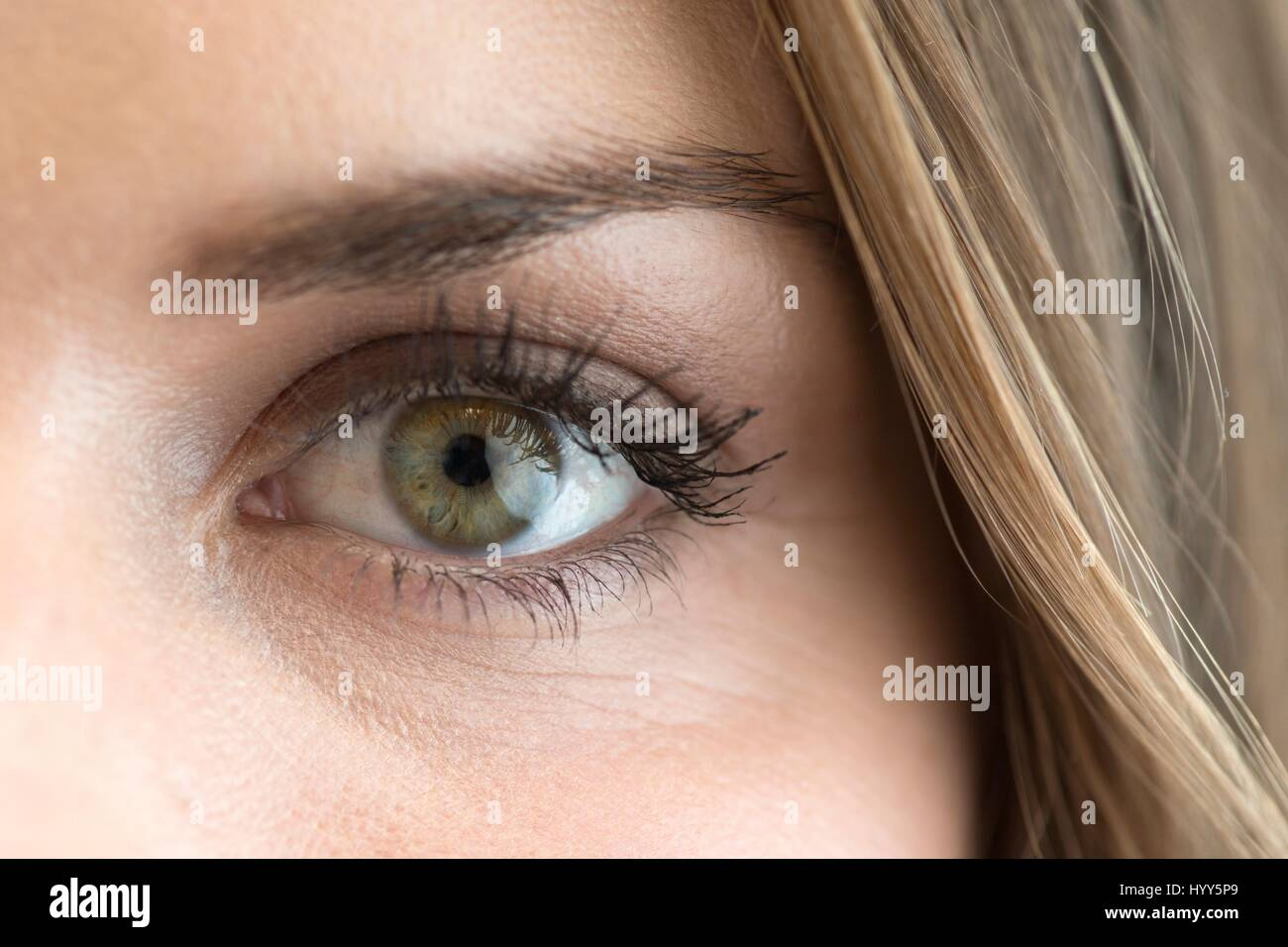 Close up of woman's eye. Banque D'Images