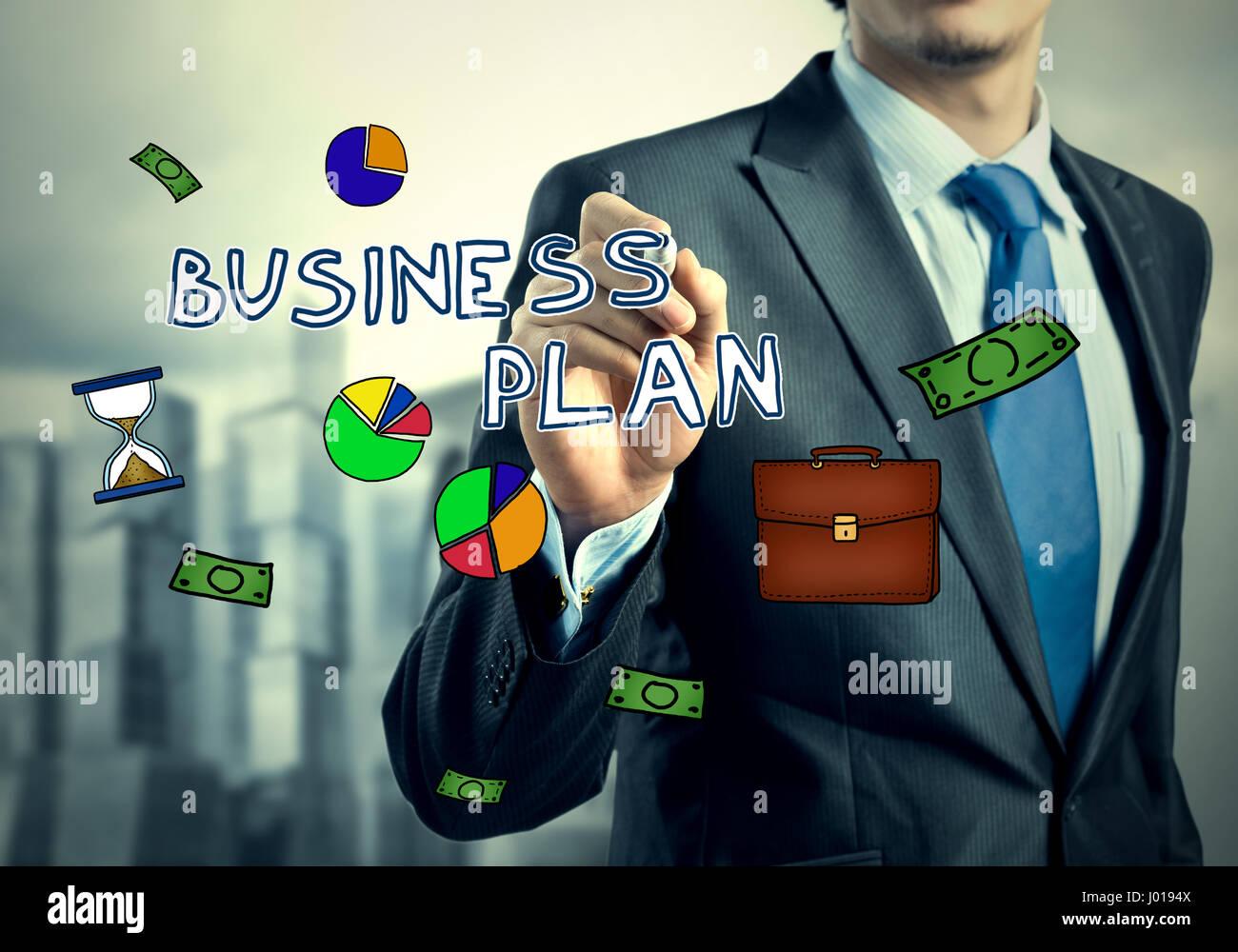 Symbole du dessin d'affaires Banque D'Images