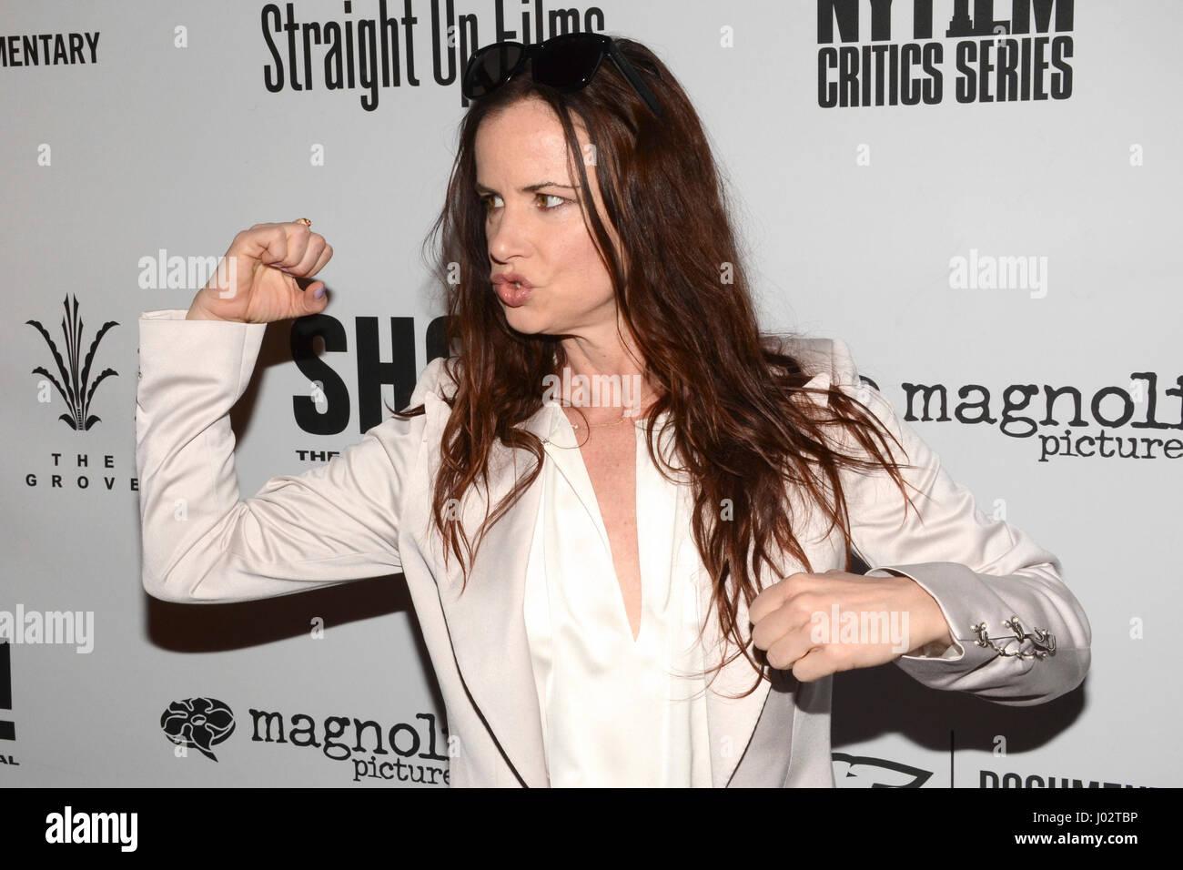 Juliette Lewis arrivent pour la première de 'SHOT! Le Psycho-Spiritual Mantra Rock' qui s'est Photo Stock