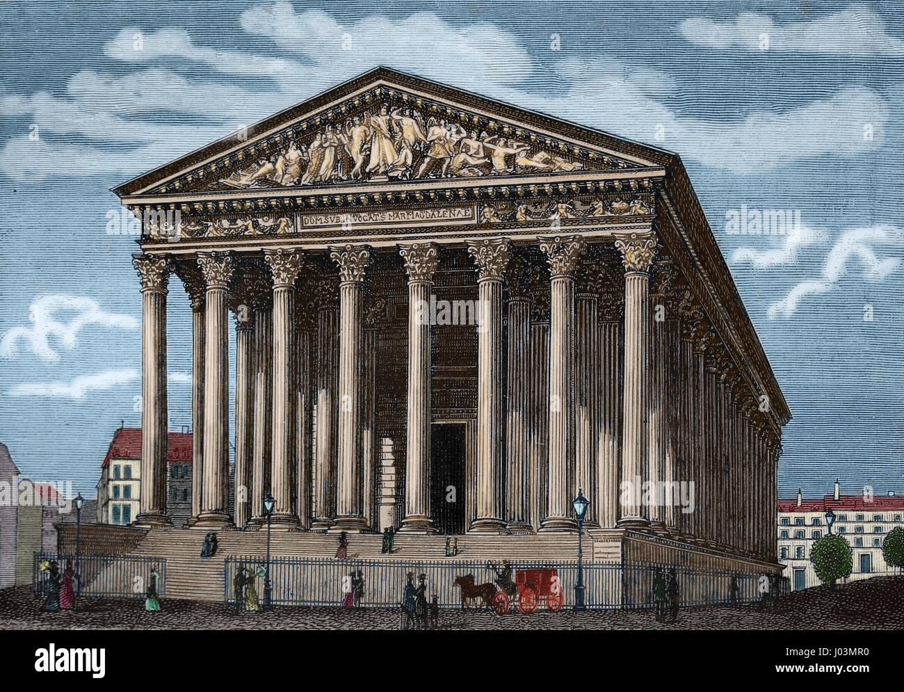 La France. Paris. Ancestors of la. Église catholique romaine. La gravure, Nuestro Siglo, 1883. Edition espagnol. Banque D'Images