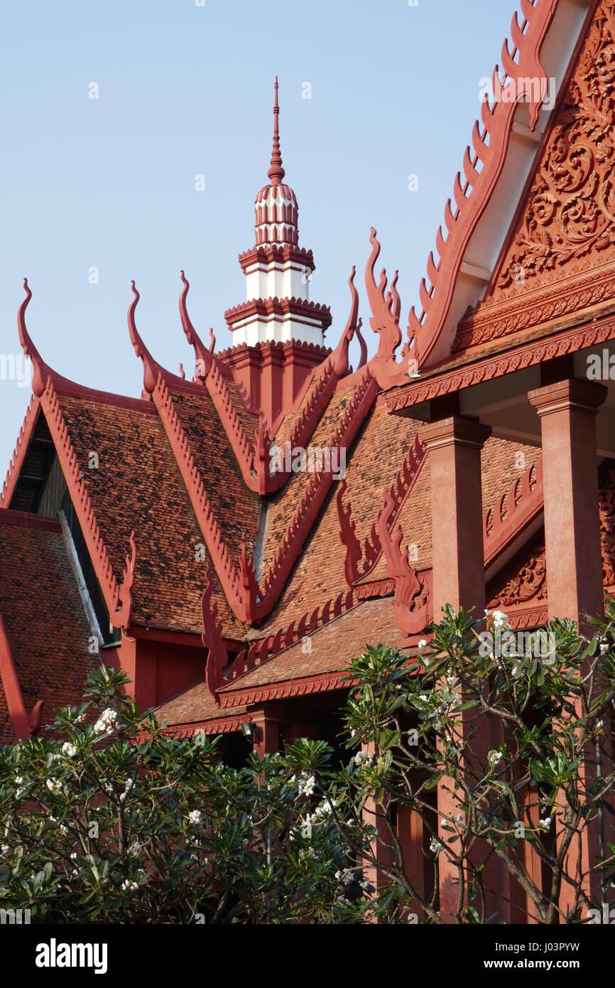 Musée national de CAMBODGE, Phnom Penh Photo Stock